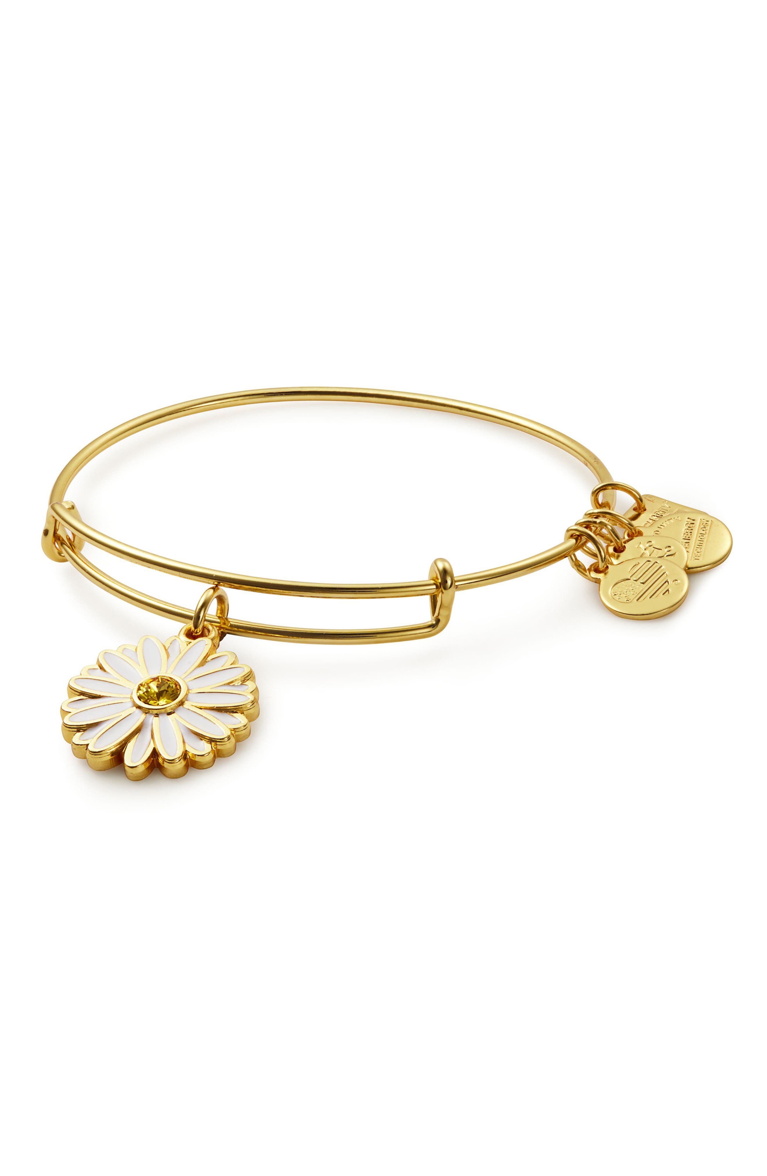 Alternate Image 1 Selected - Alex and Ani Expandable Daisy Charm Bracleet