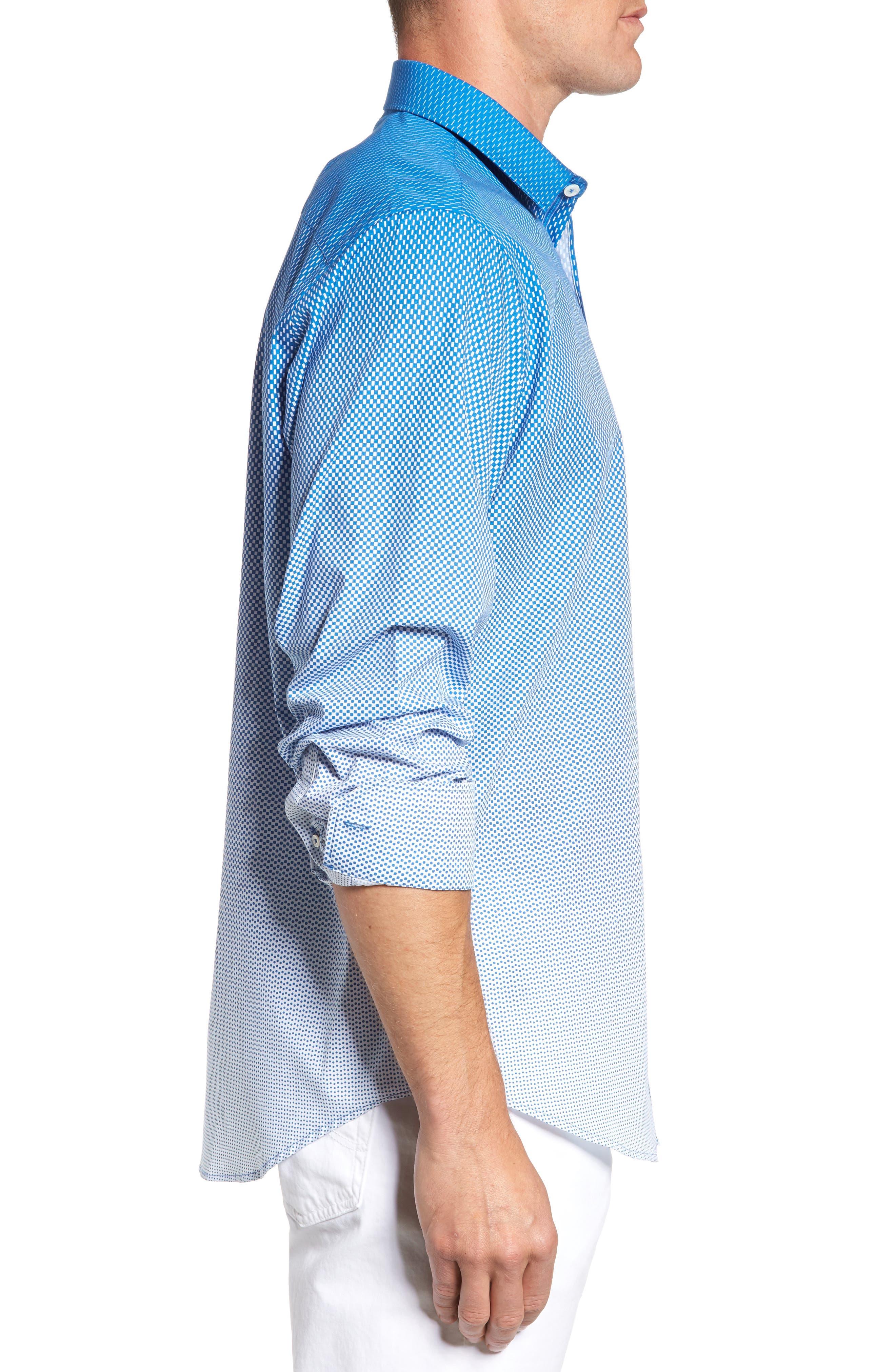 Alternate Image 3  - Bugatchi Print Sport Shirt