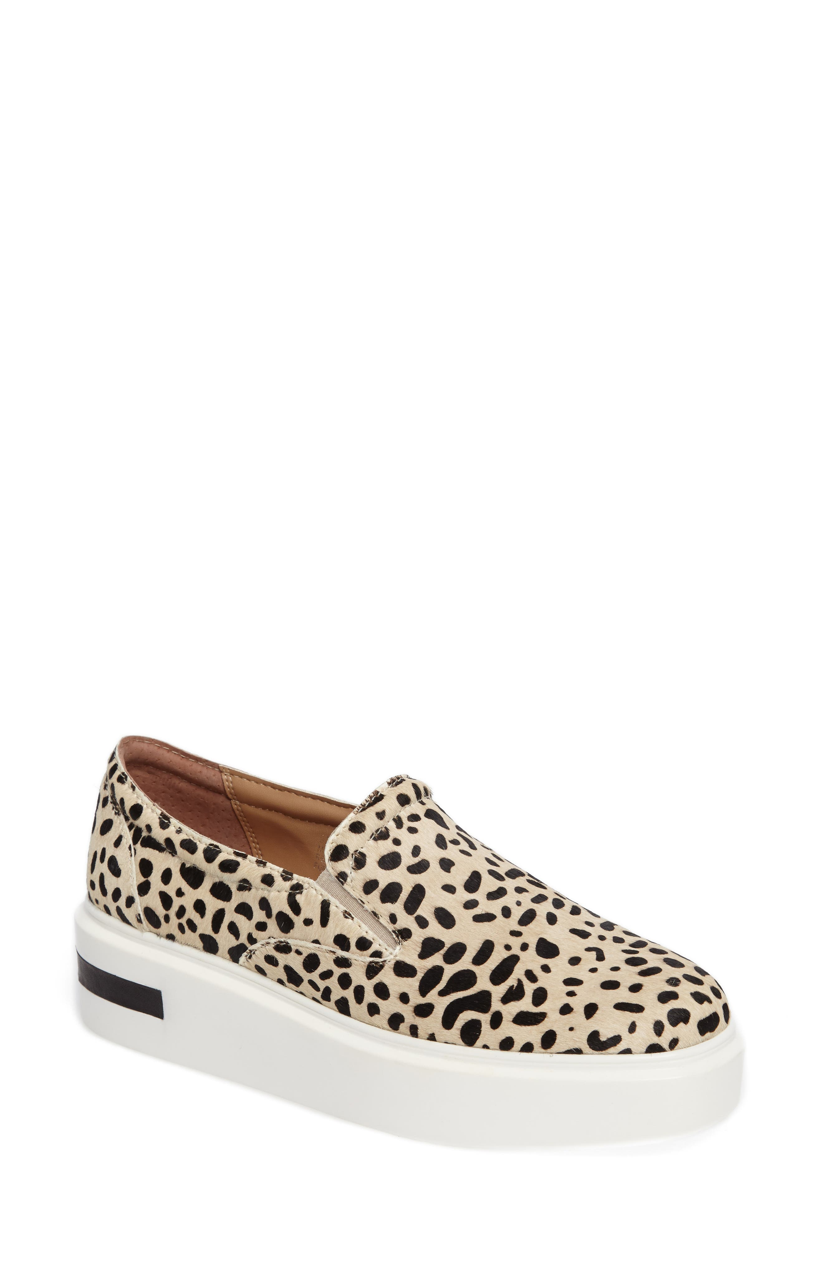 Linea Paolo Fairfax II Genuine Calf Hair Platform Sneaker (Women)