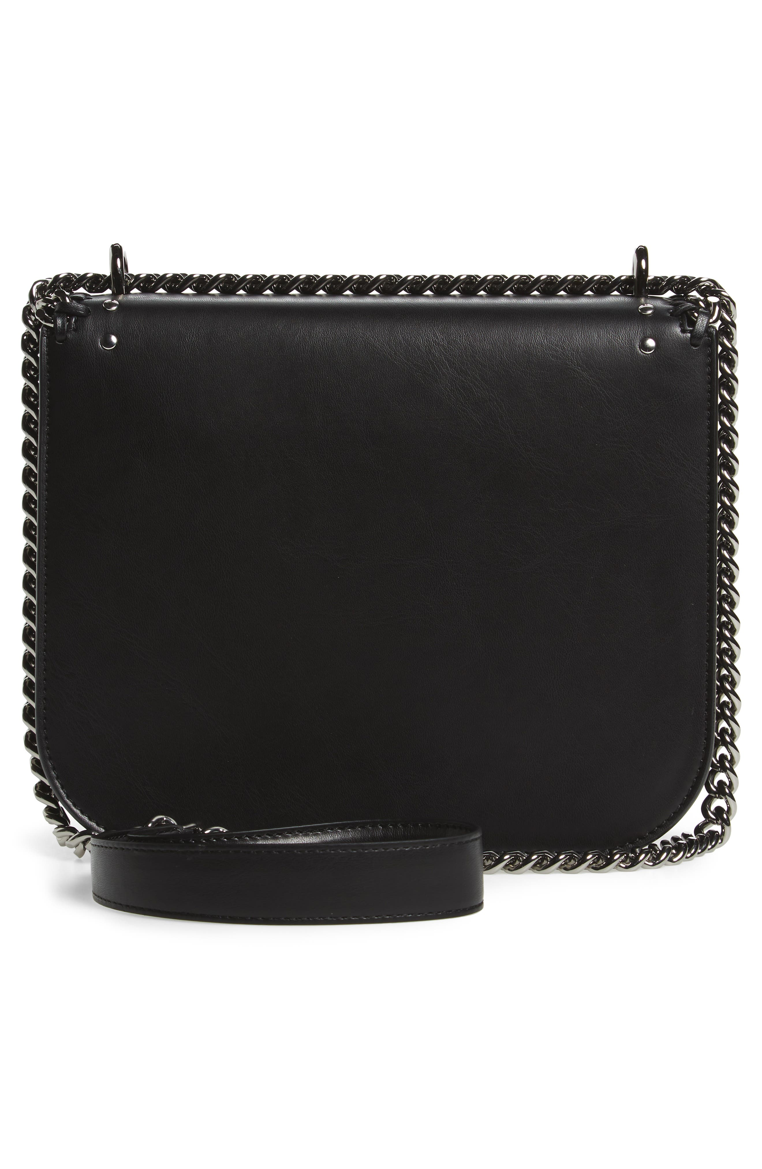 Medium Falabella Box Floral Shoulder Bag,                             Alternate thumbnail 3, color,                             Black
