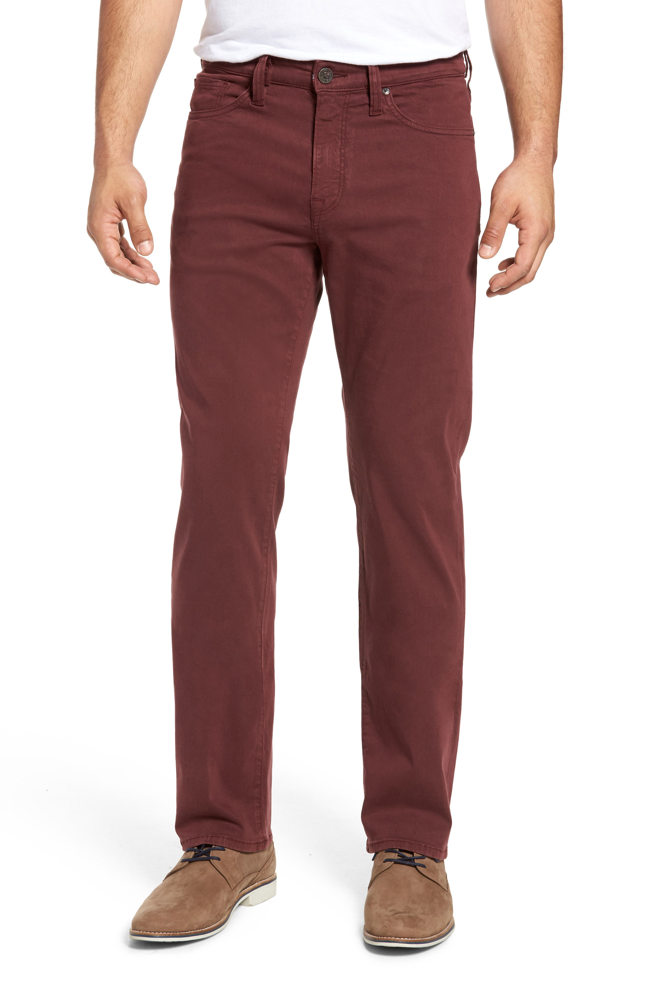 Main Image - 34 Heritage Charisma Relaxed Fit Pants (Bordeaux Twill)