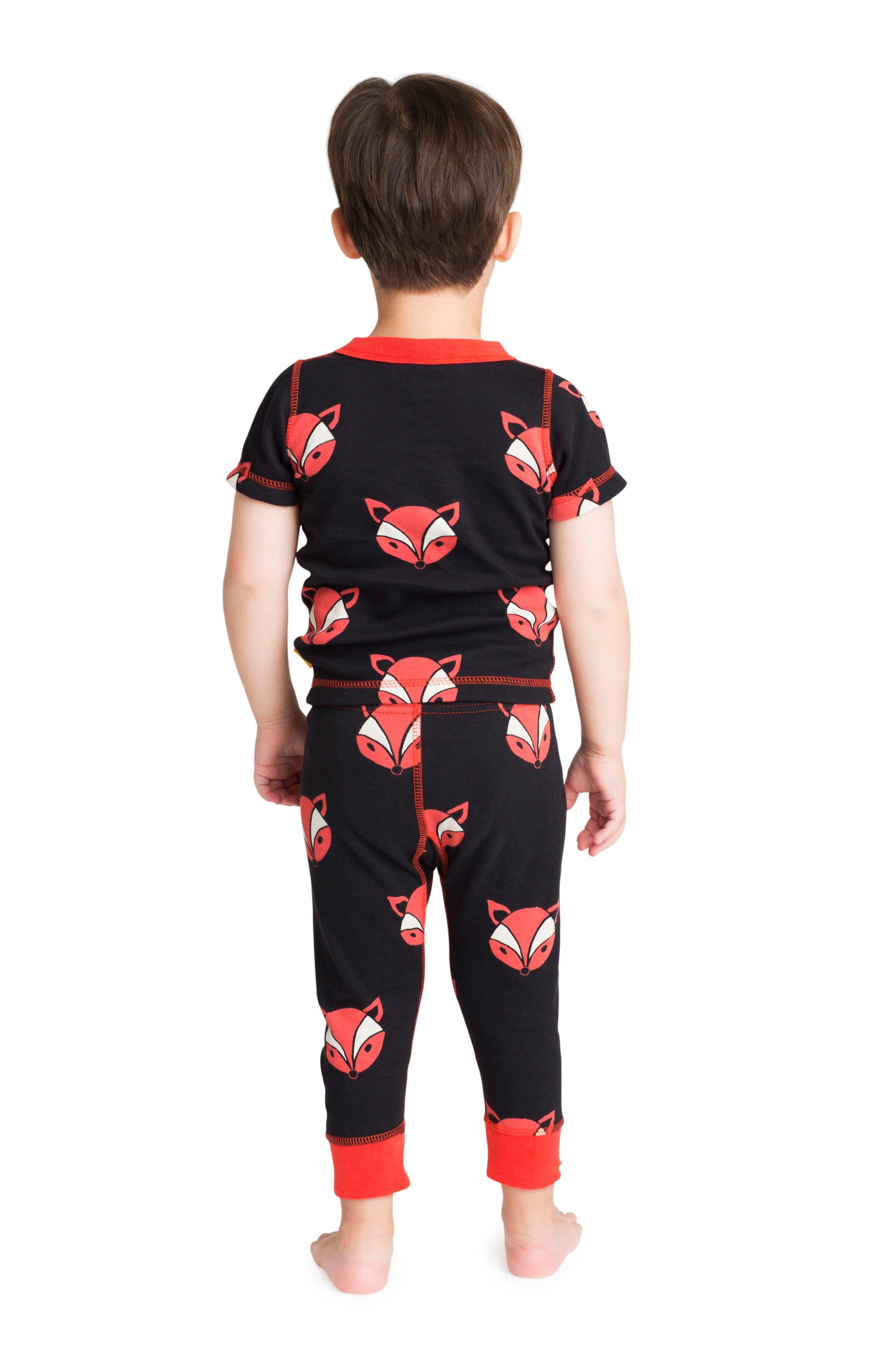Alternate Image 3  - Masasla Baby Fox Organic Cotton Fitted Two-Piece Pajamas (Baby)