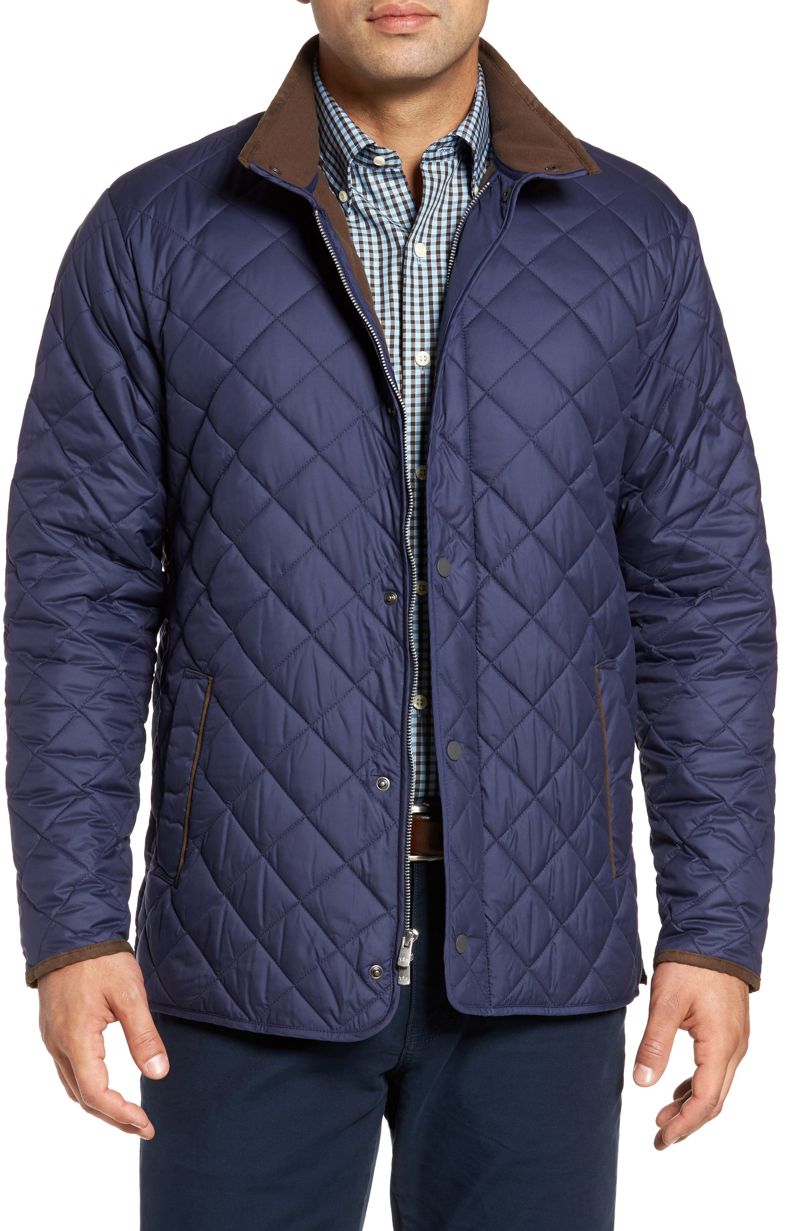 Main Image - Peter Millar Suffolk Quilted Water-Resistant Car Coat