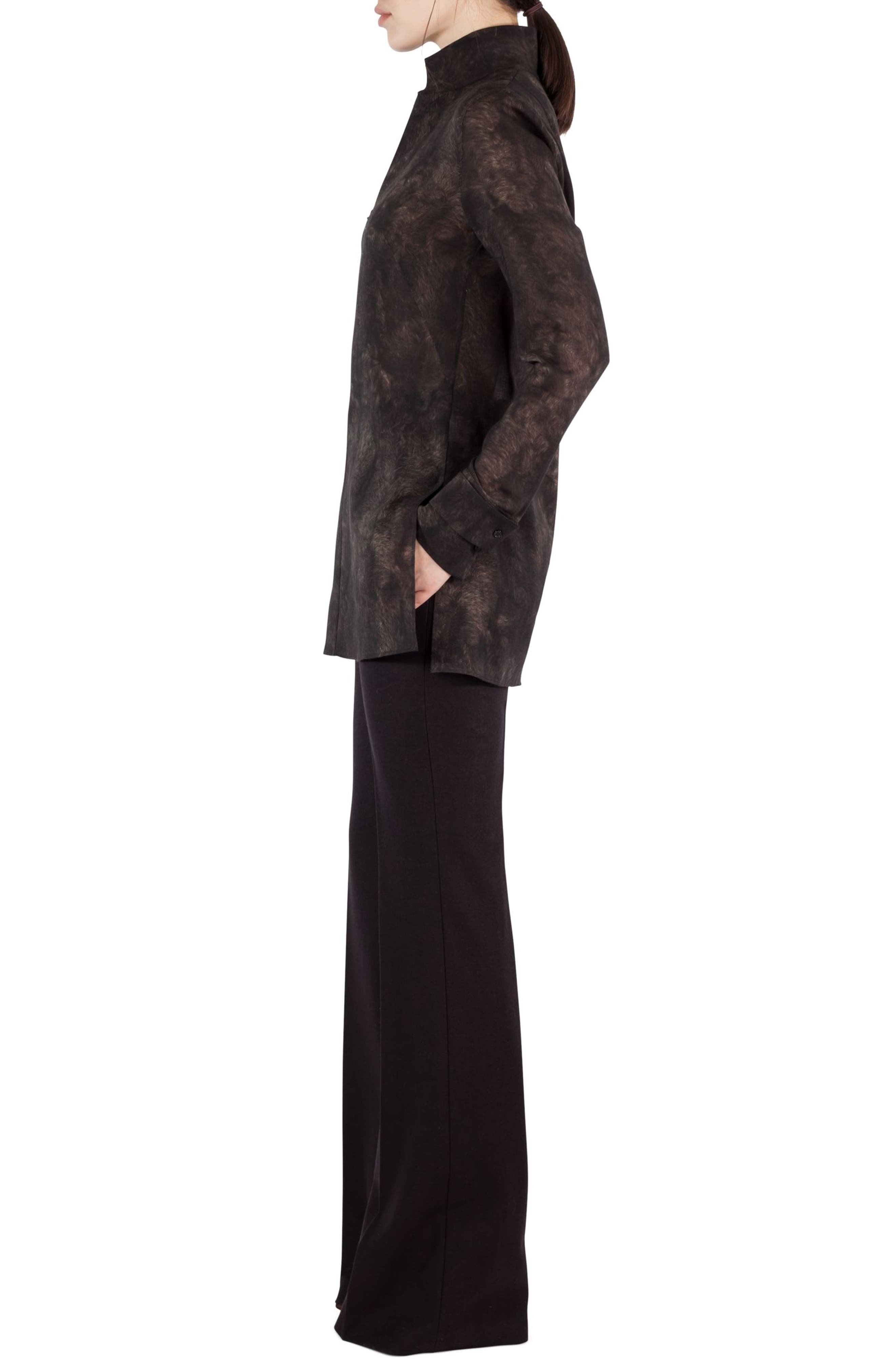 Alternate Image 3  - Akris Shearling Print Wool Mousseline Tunic