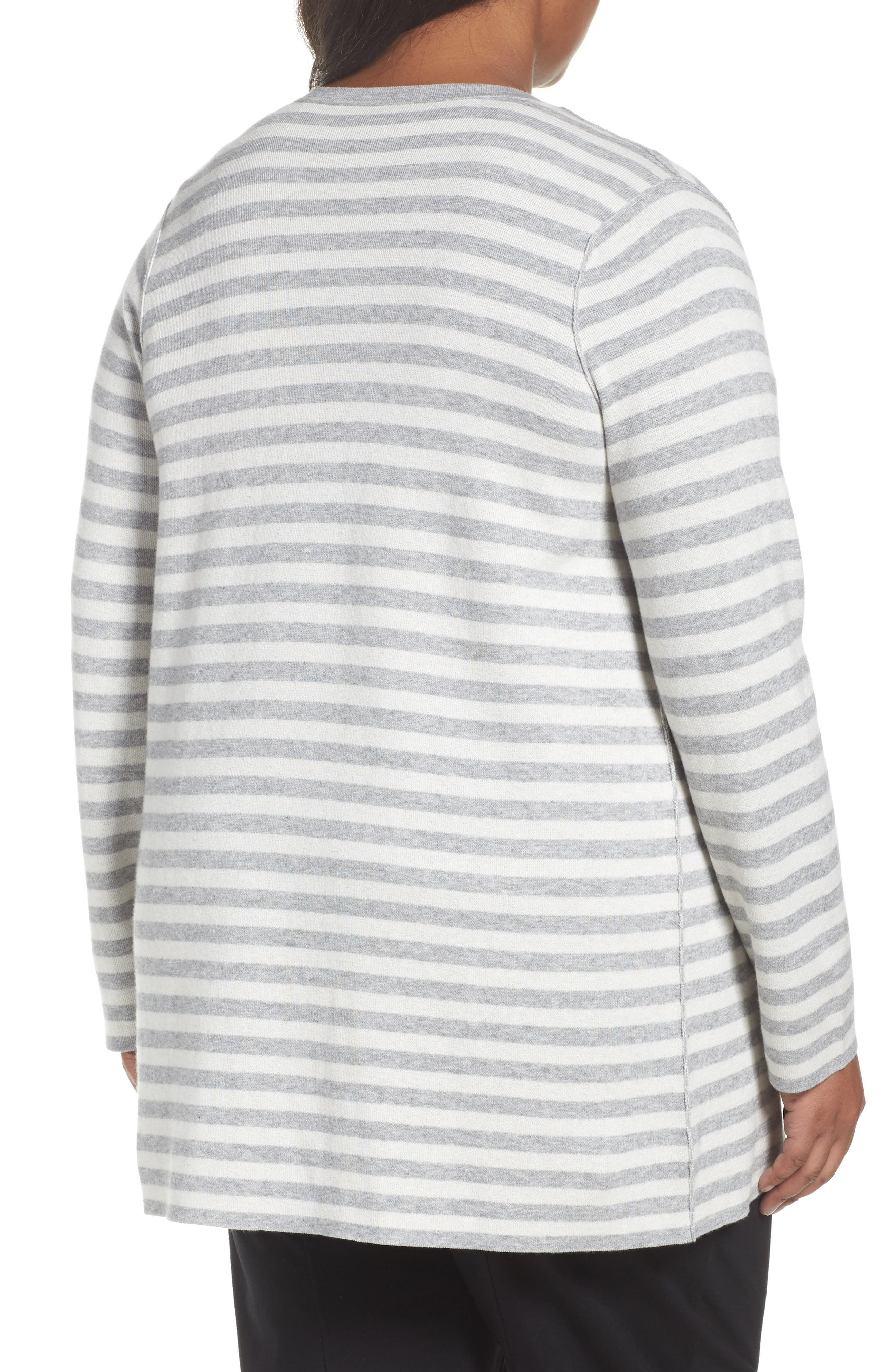 Reversible Organic Cotton Blend Cardigan,                             Alternate thumbnail 2, color,                             Dark Pearl