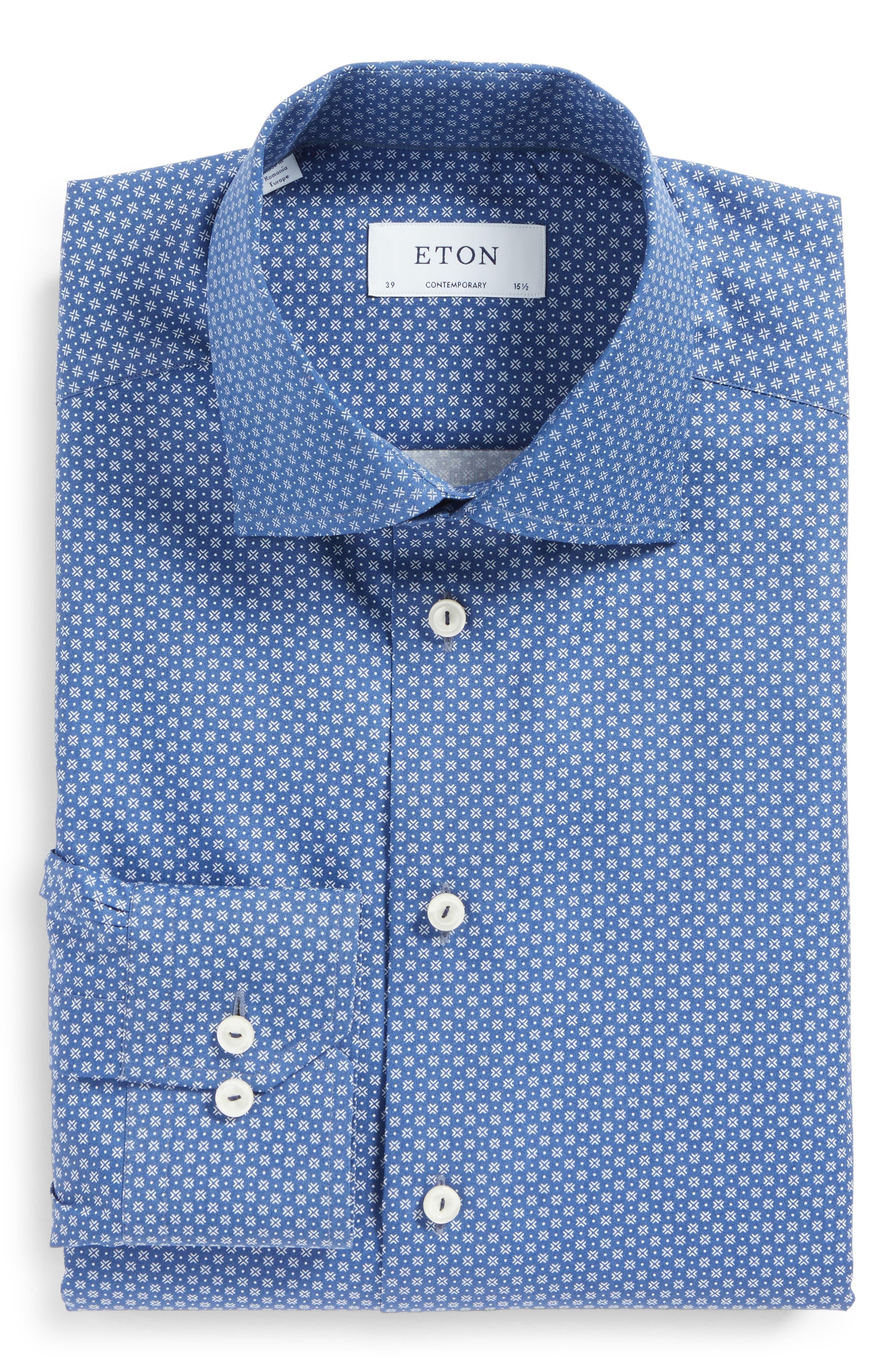 Alternate Image 1 Selected - Eton Contemporary Fit Geometric Dress Shirt