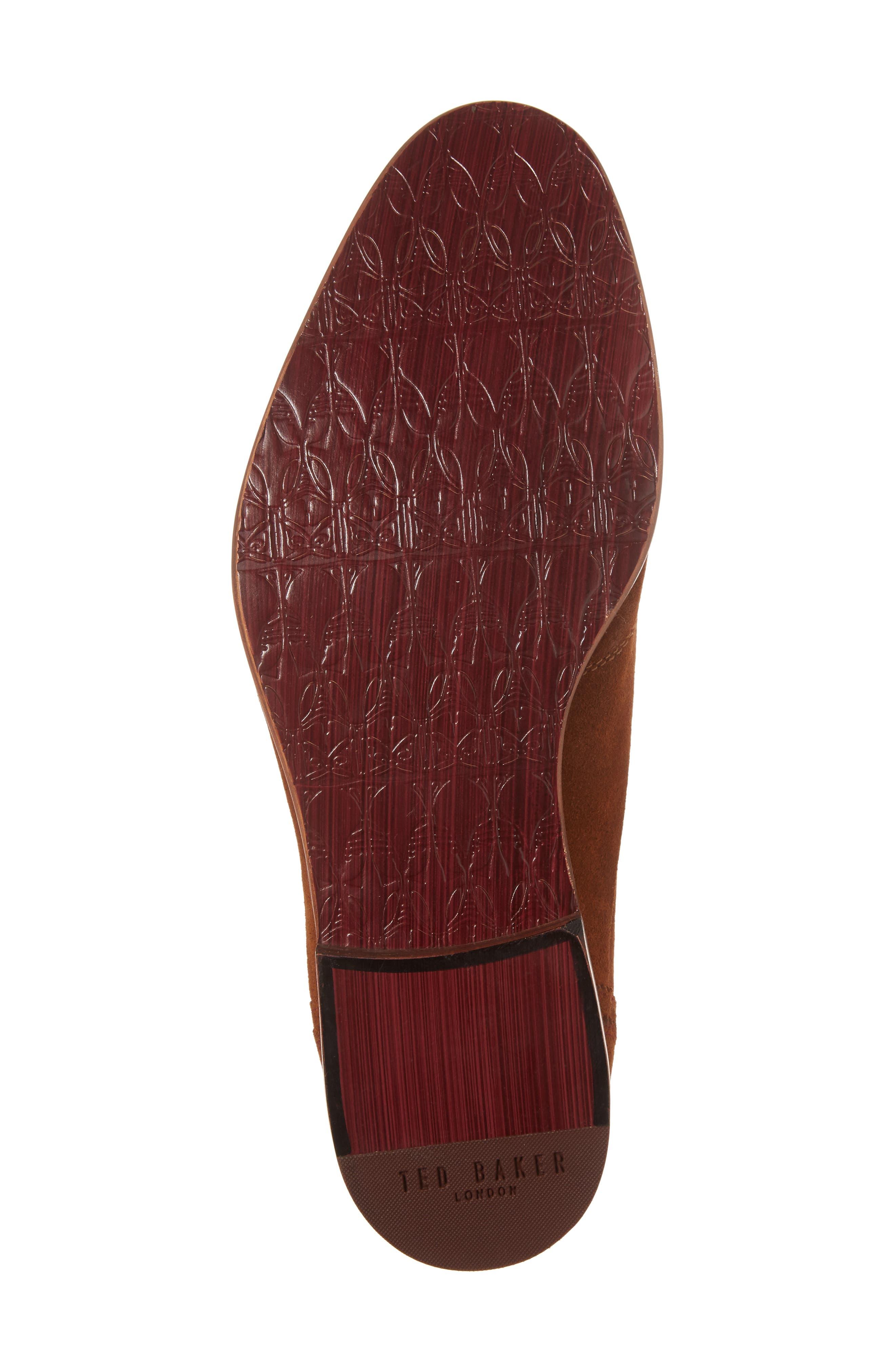 Rovere Wingtip Monk Shoe,                             Alternate thumbnail 6, color,                             Tan Suede
