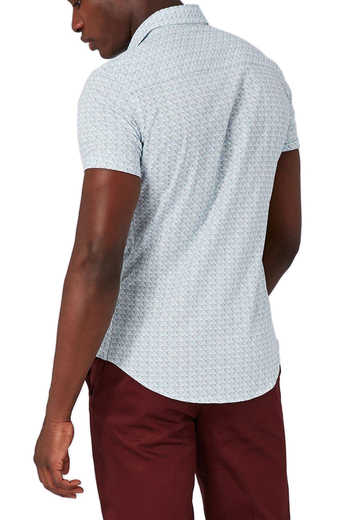 Alternate Image 3  - Topman Waves Print Shirt