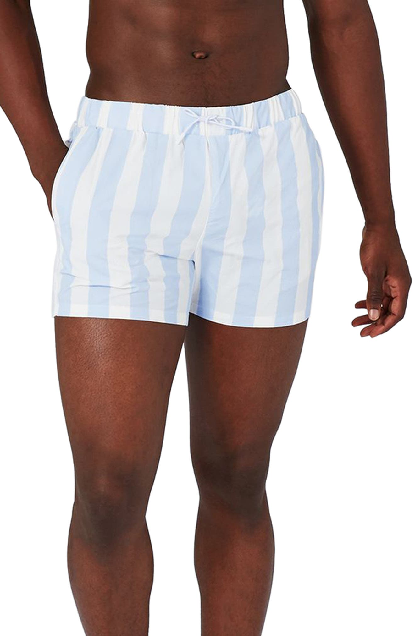 Topman Stripe Swim Trunks