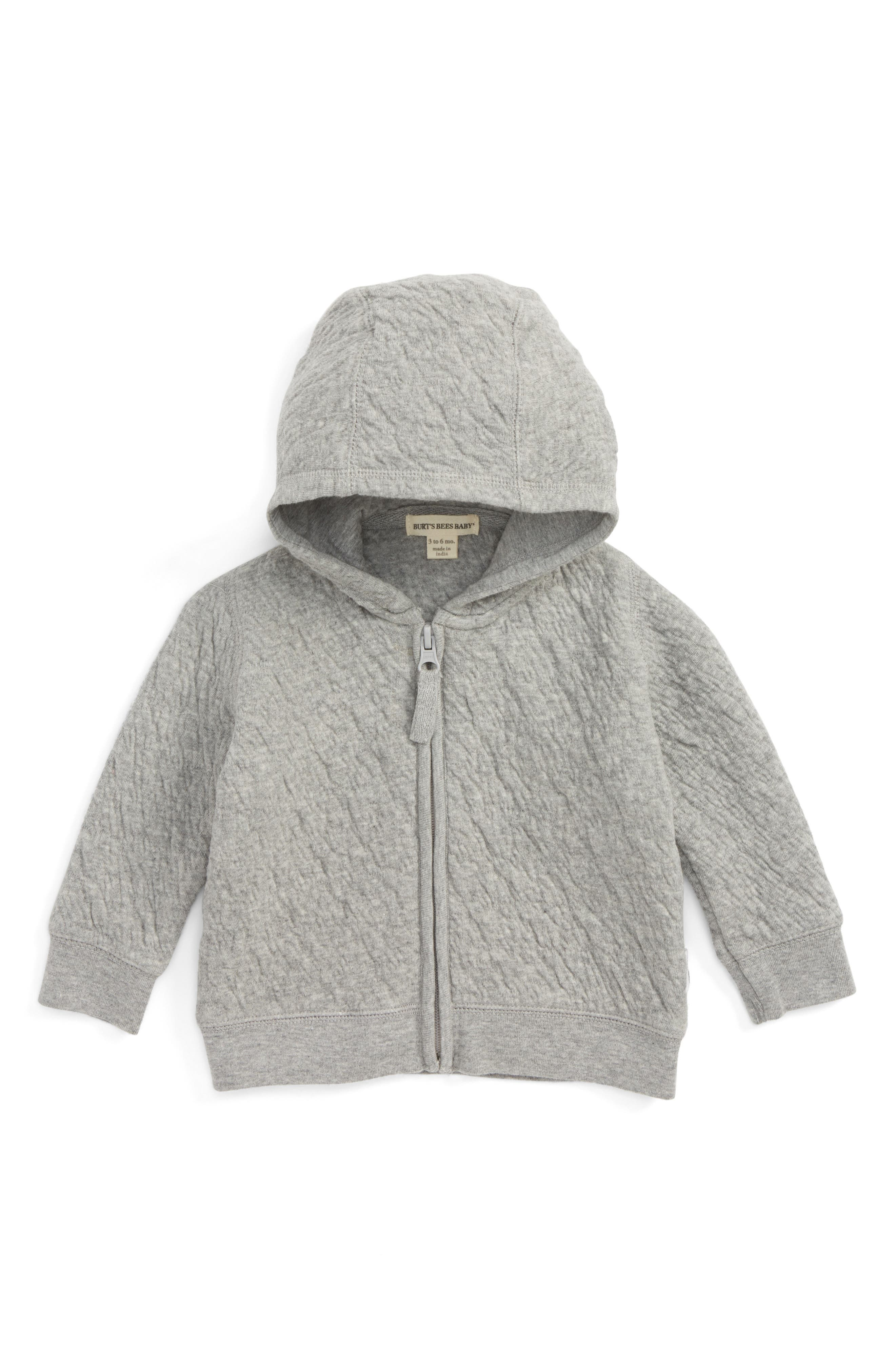 BURTS BEES BABY Quilted Organic Cotton Hooded Jacket