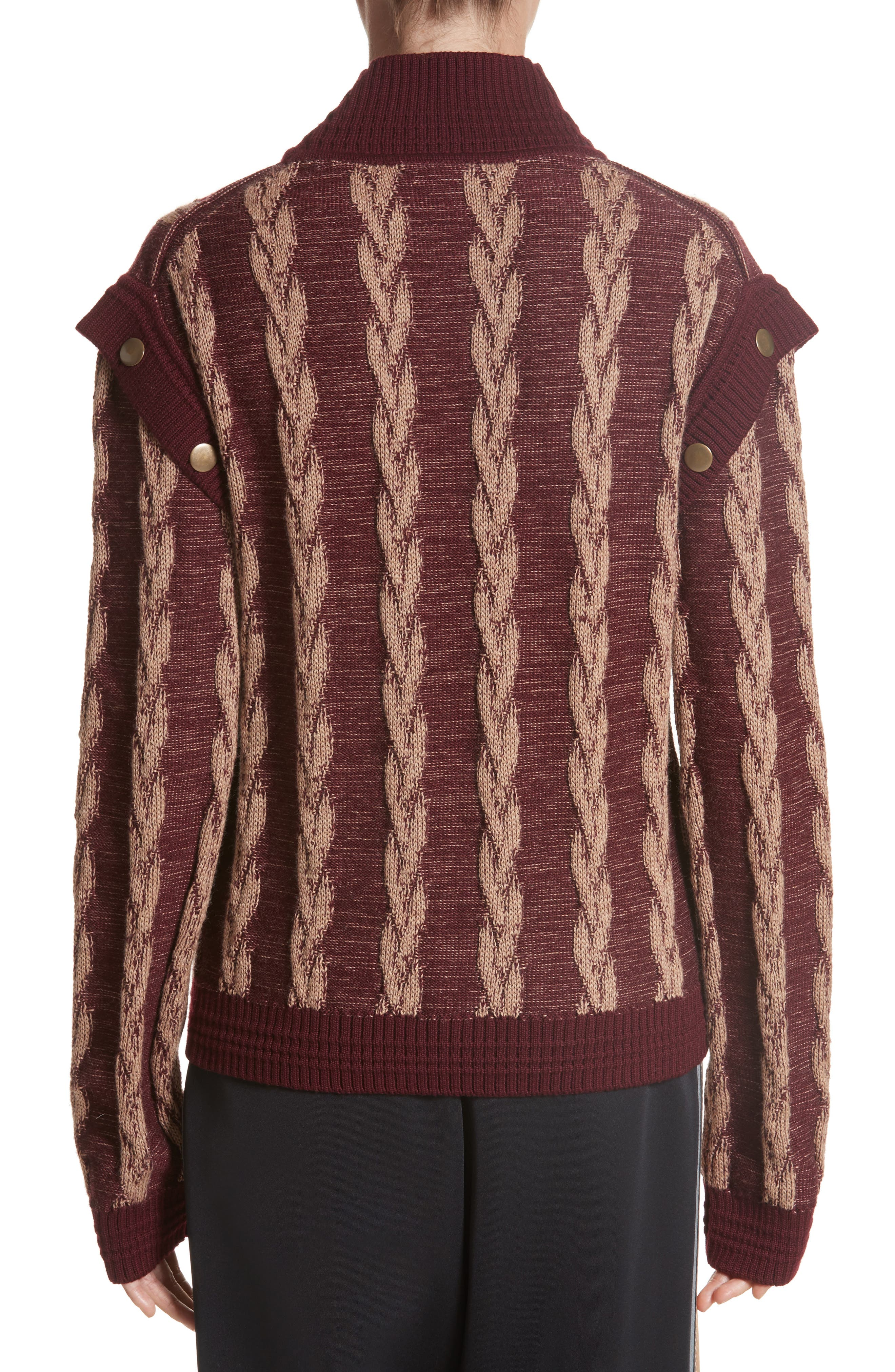 Alternate Image 2  - MARC JACOBS Cable Knit Turtleneck Sweater