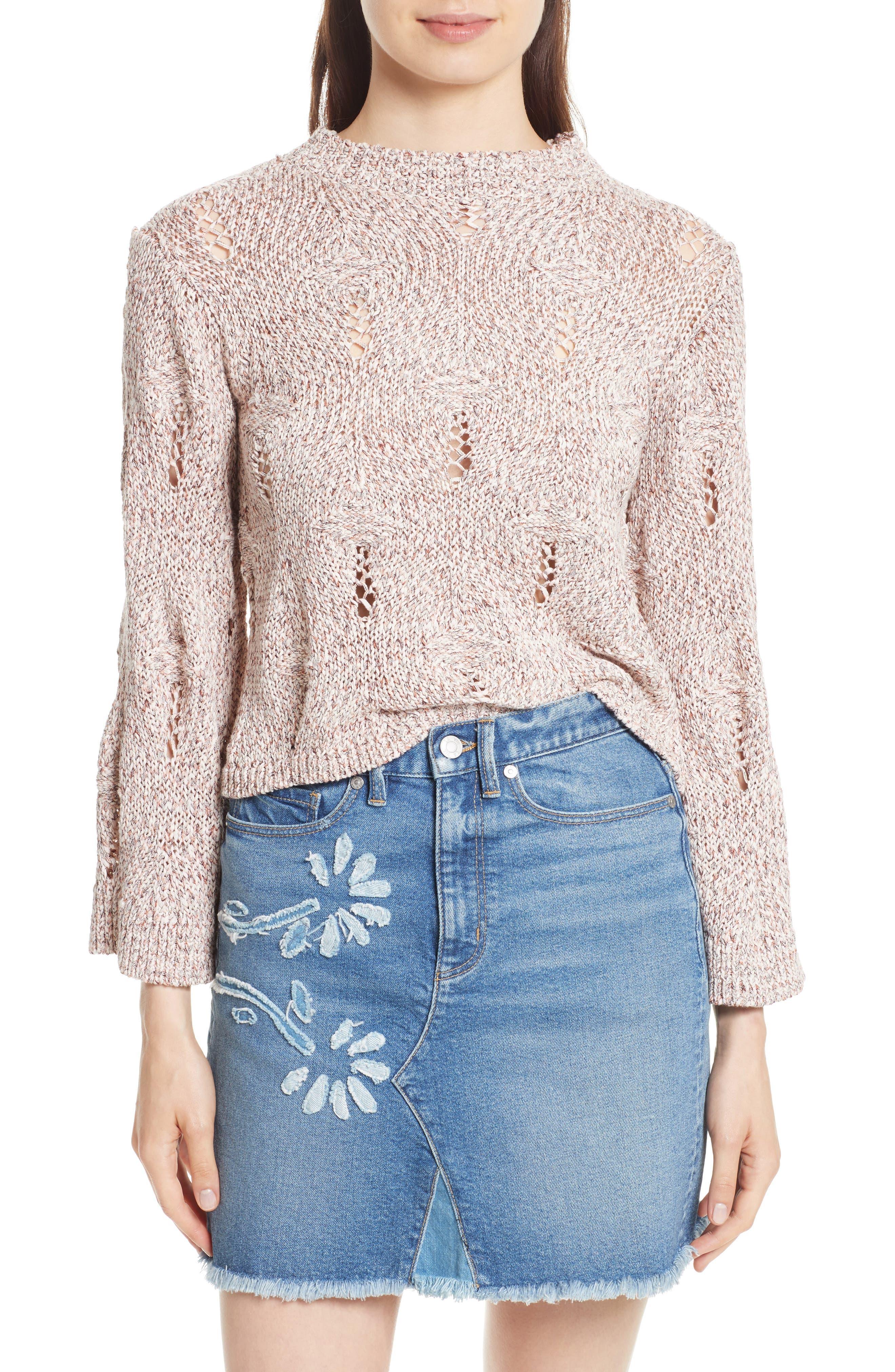 Main Image - La Vie Rebecca Taylor Summer Ribbon Sweater
