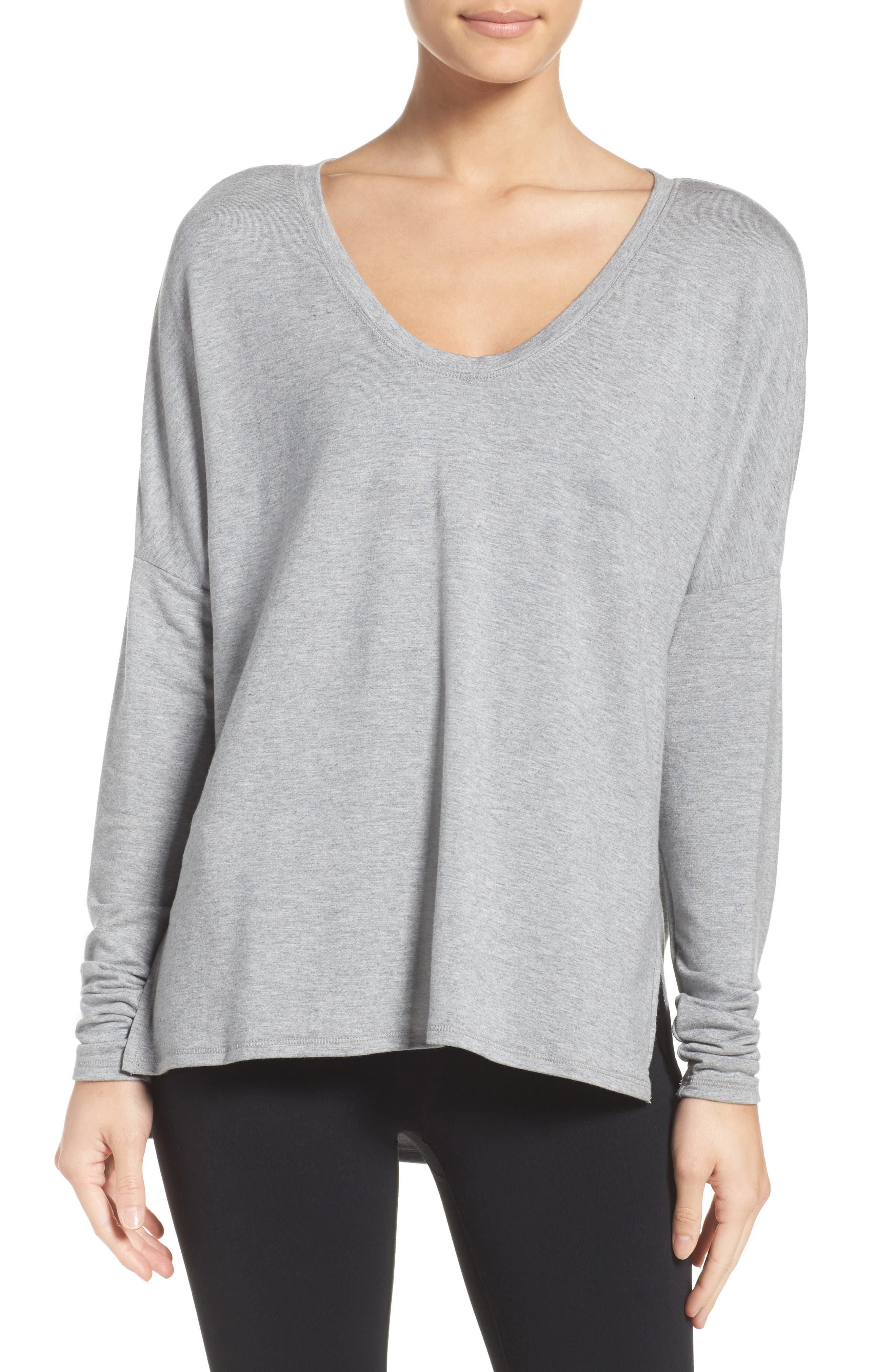 She's Cute Terry Pullover,                         Main,                         color, Grey Heather