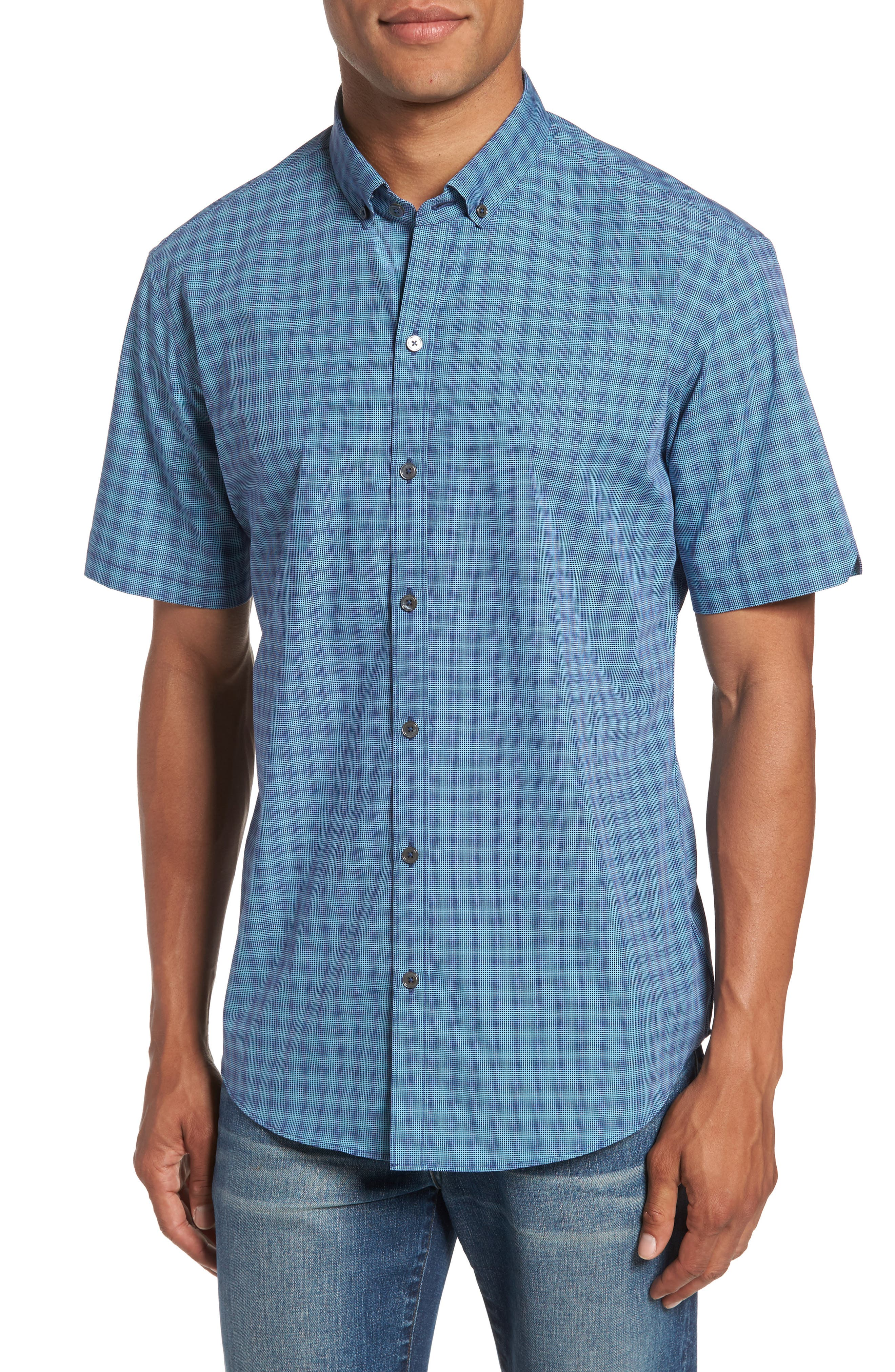 Zachary Prell Valle Check Sport Shirt