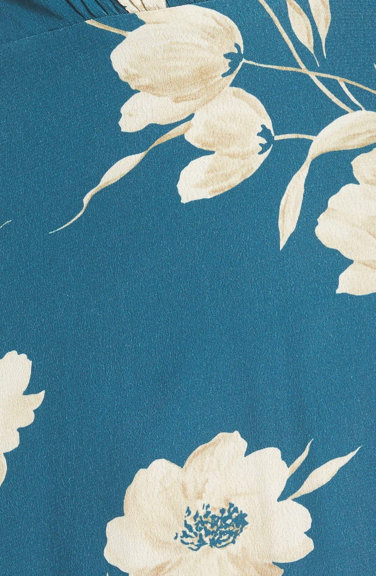 Plaza Wrap Maxi Dress,                             Alternate thumbnail 5, color,                             Sage Floral