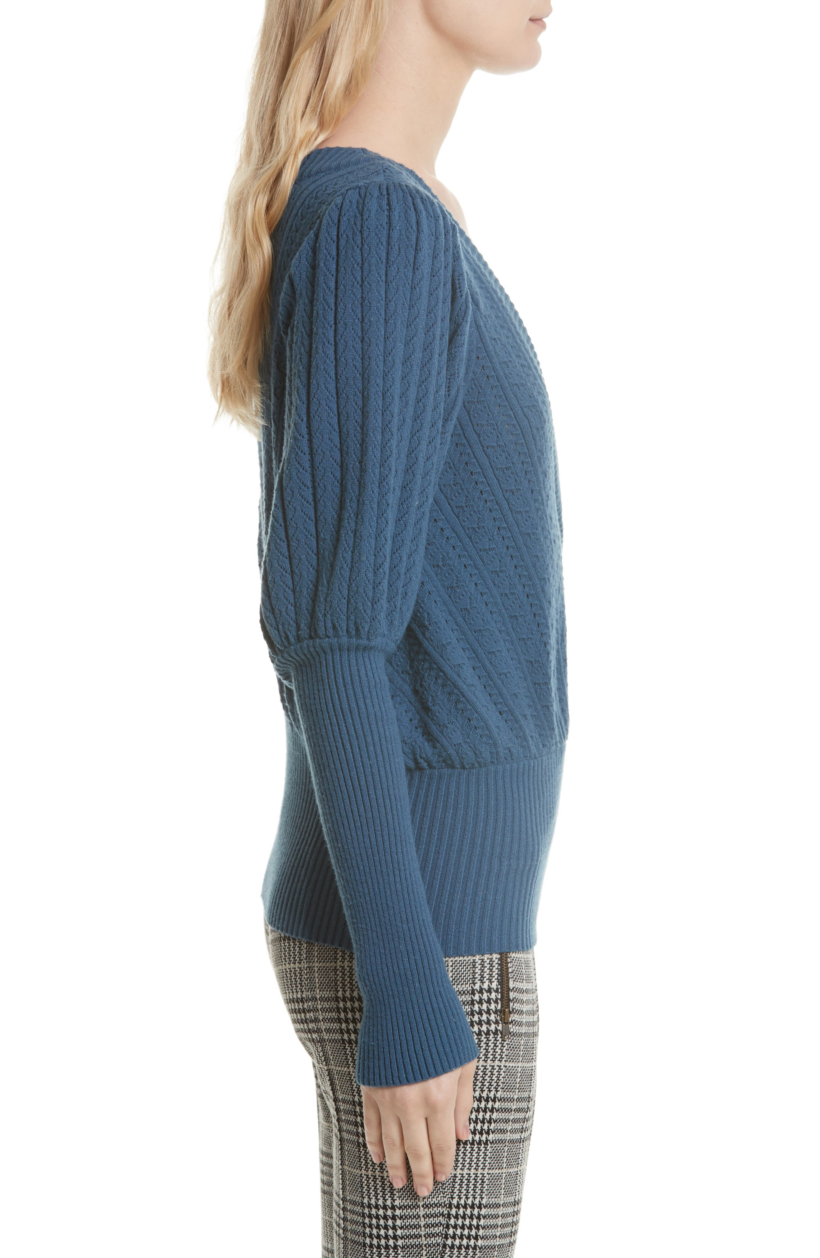 Alternate Image 3  - Tracy Reese Pointelle Knit Surplice Sweater