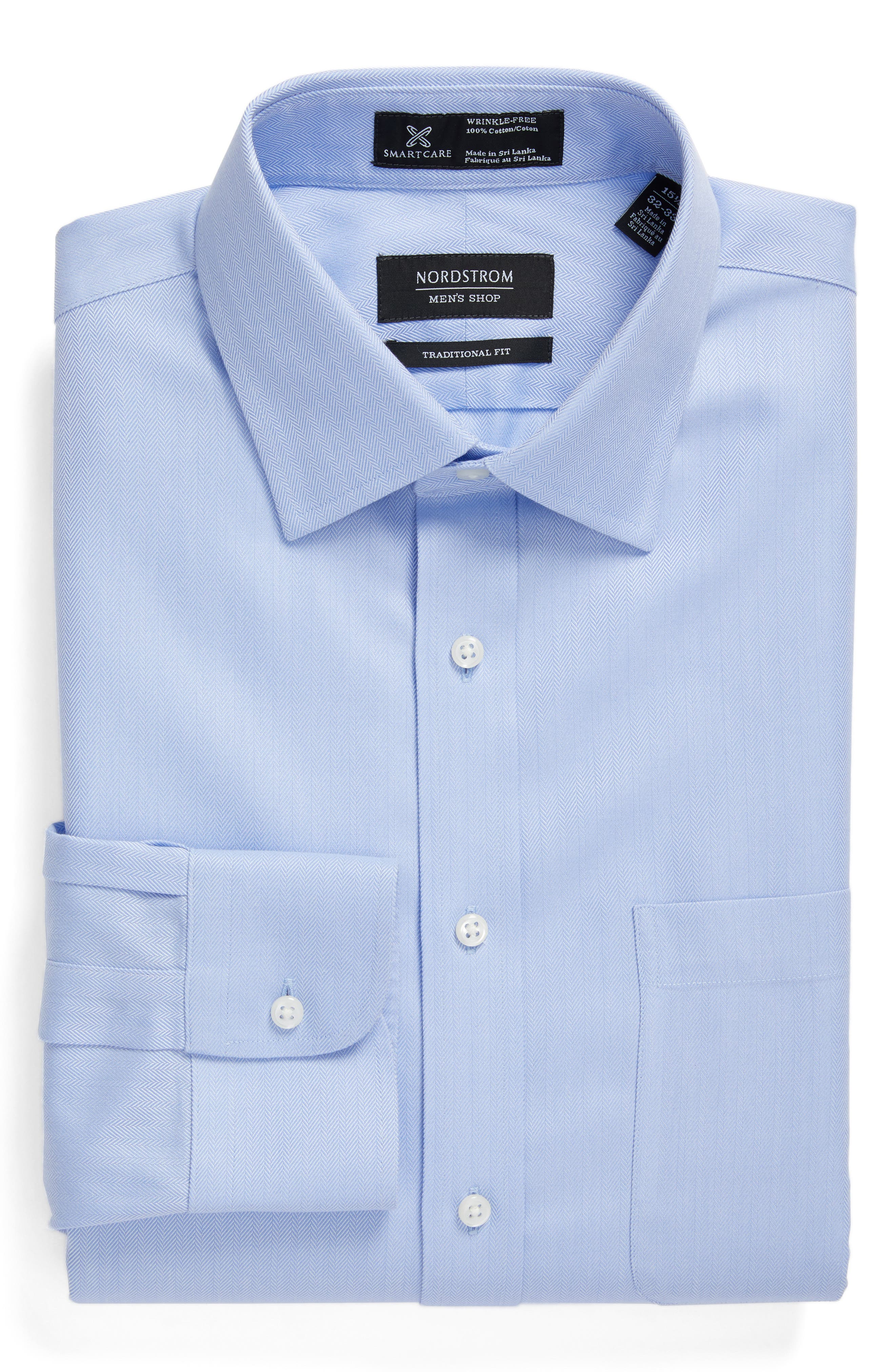 Nordstrom Men's Shop Smartcare™ Traditional Fit Herringbone Dress Shirt
