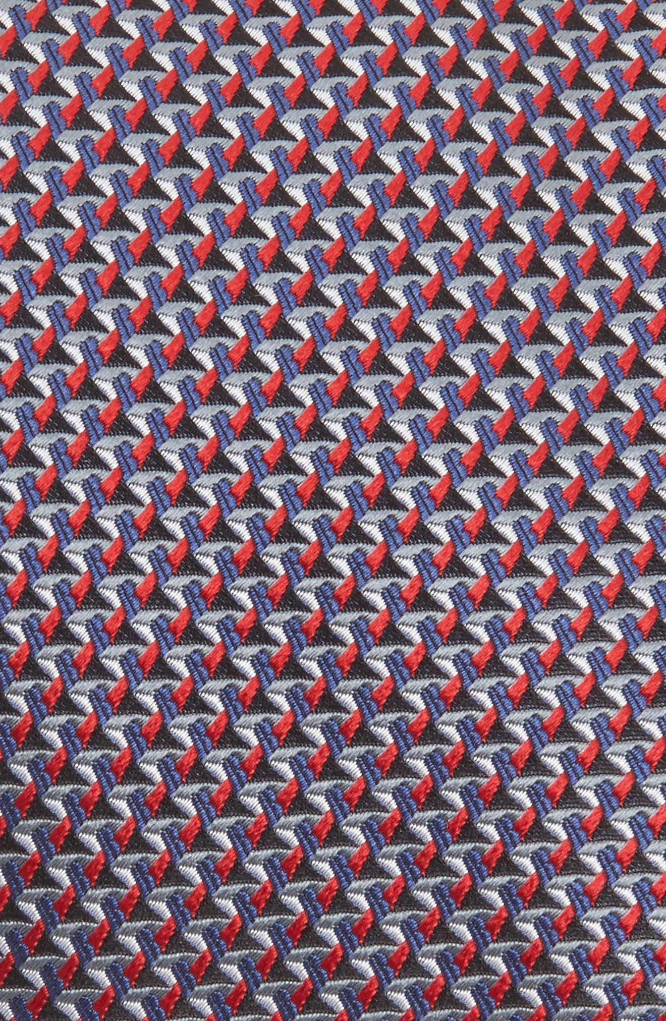 Geometric Silk Tie,                             Alternate thumbnail 2, color,                             Brioni Red/ Navy