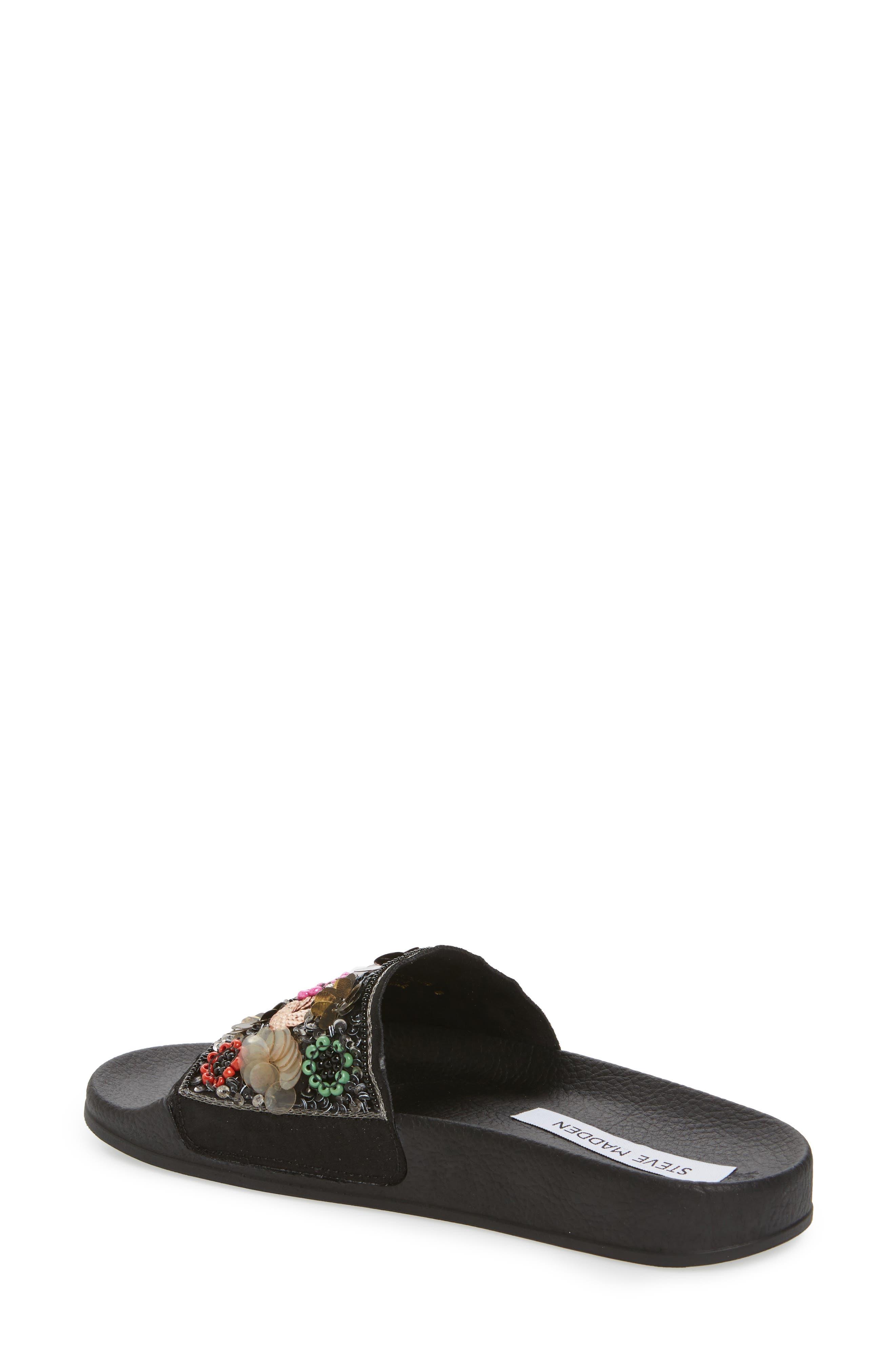 Maddy Embellished Slide Sandal,                             Alternate thumbnail 2, color,                             Flower Multi