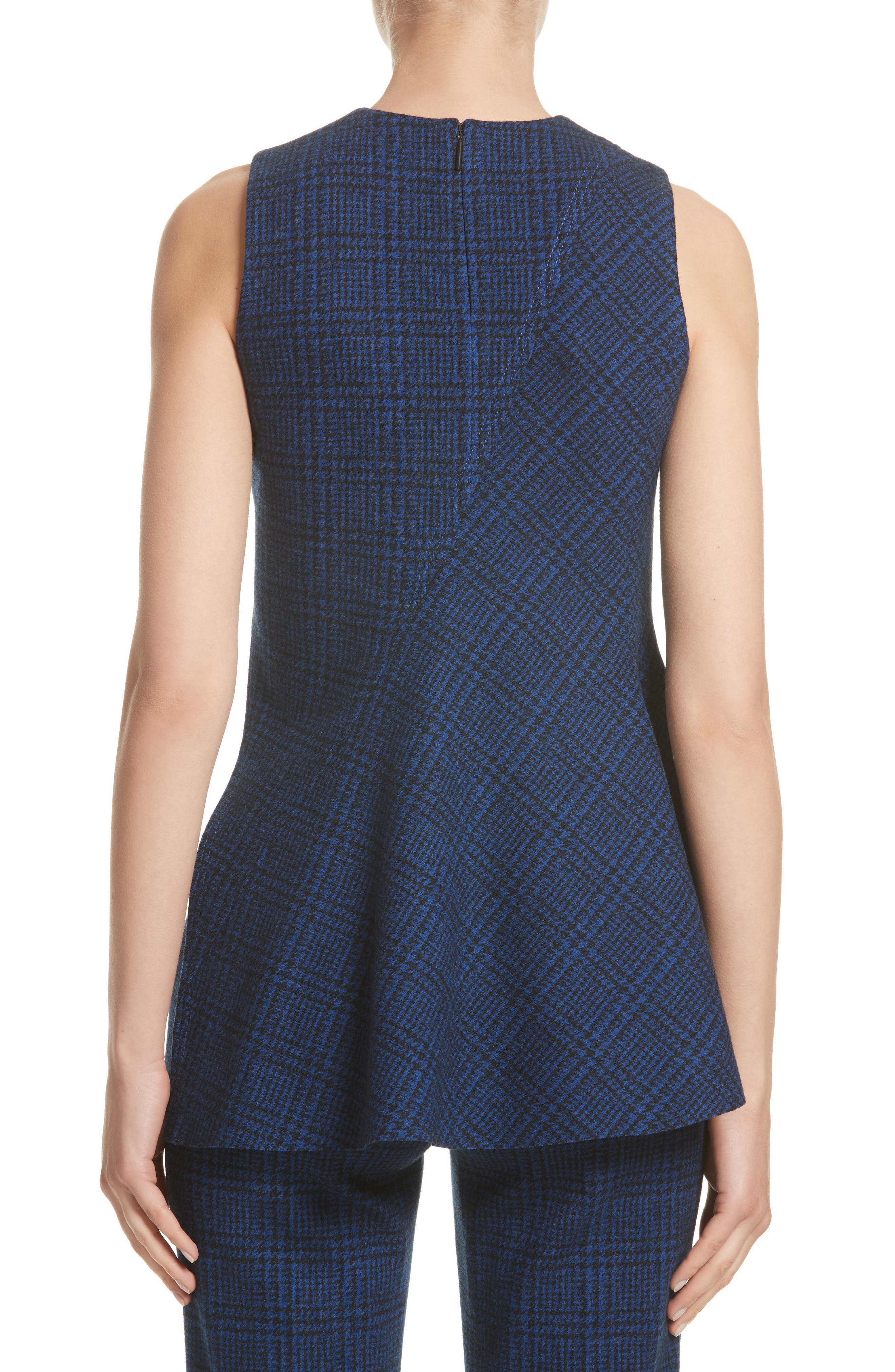 Alternate Image 2  - Jason Wu Check Jersey Asymmetrical Peplum Top