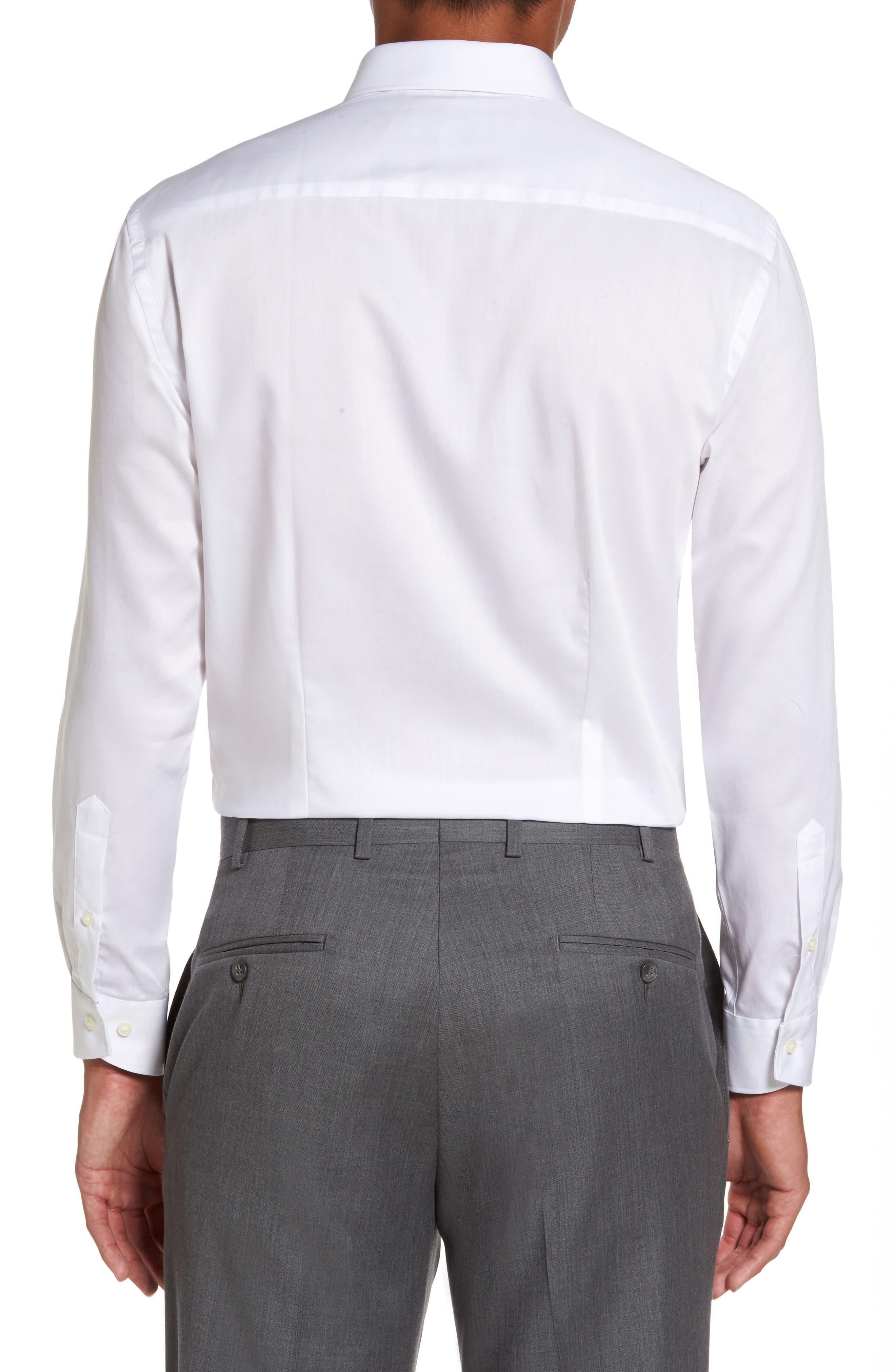 Caramor Trim Fit Solid Dress Shirt,                             Alternate thumbnail 2, color,                             White