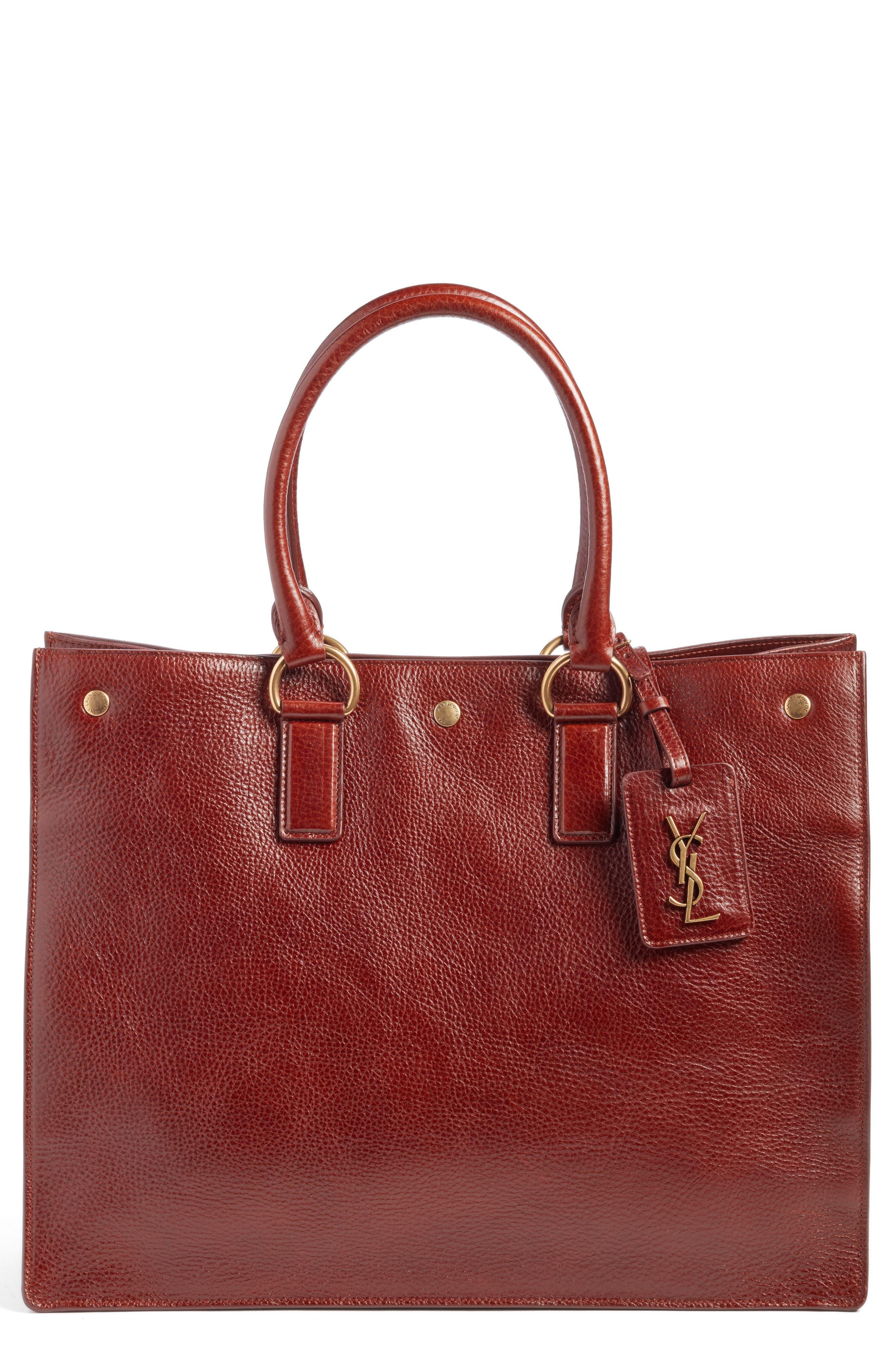 Alternate Image 1 Selected - Saint Laurent Noe Glacé Moroder Leather Tote
