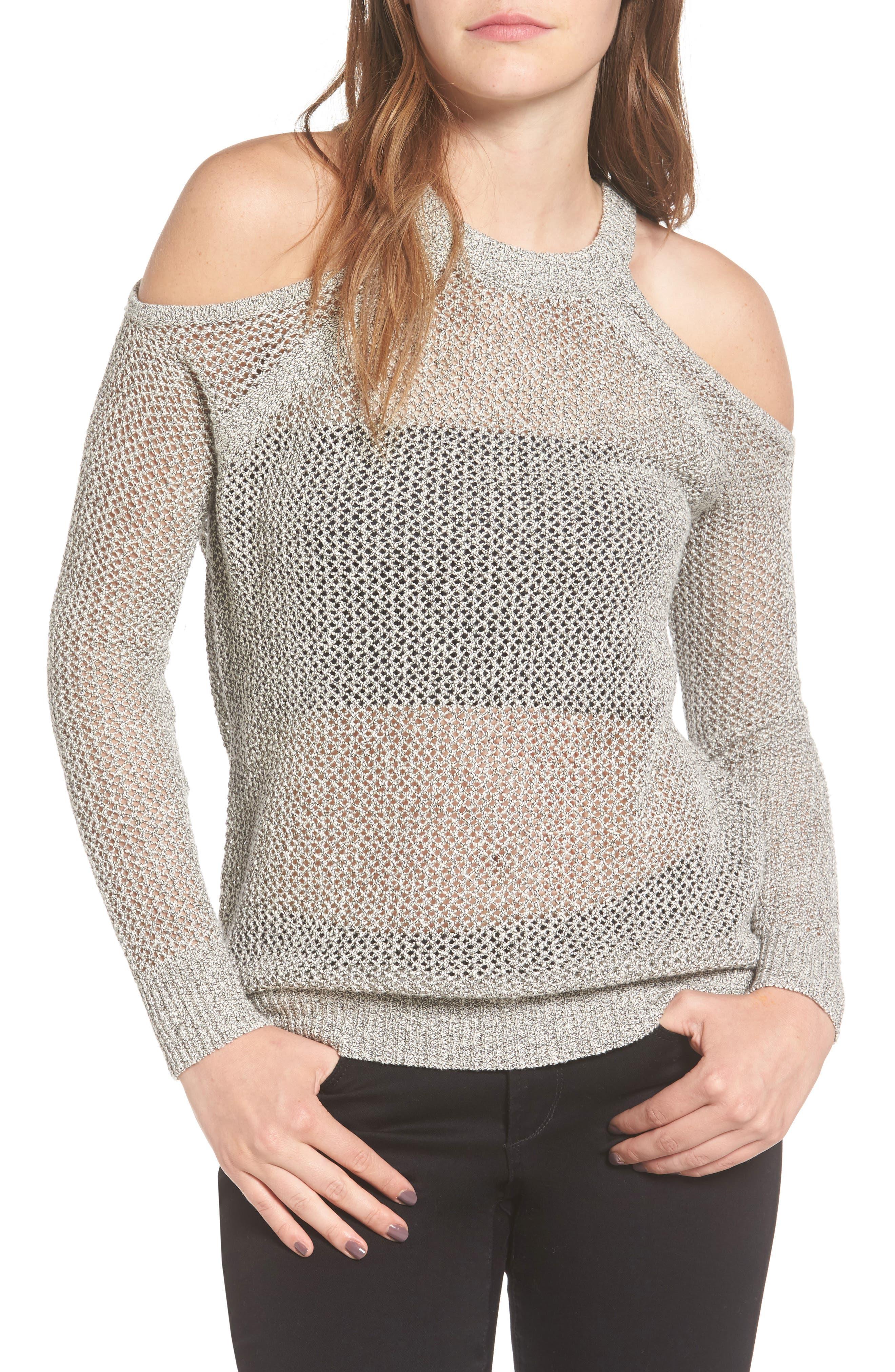 ASTR the Label Janet Cold Shoulder Sweater