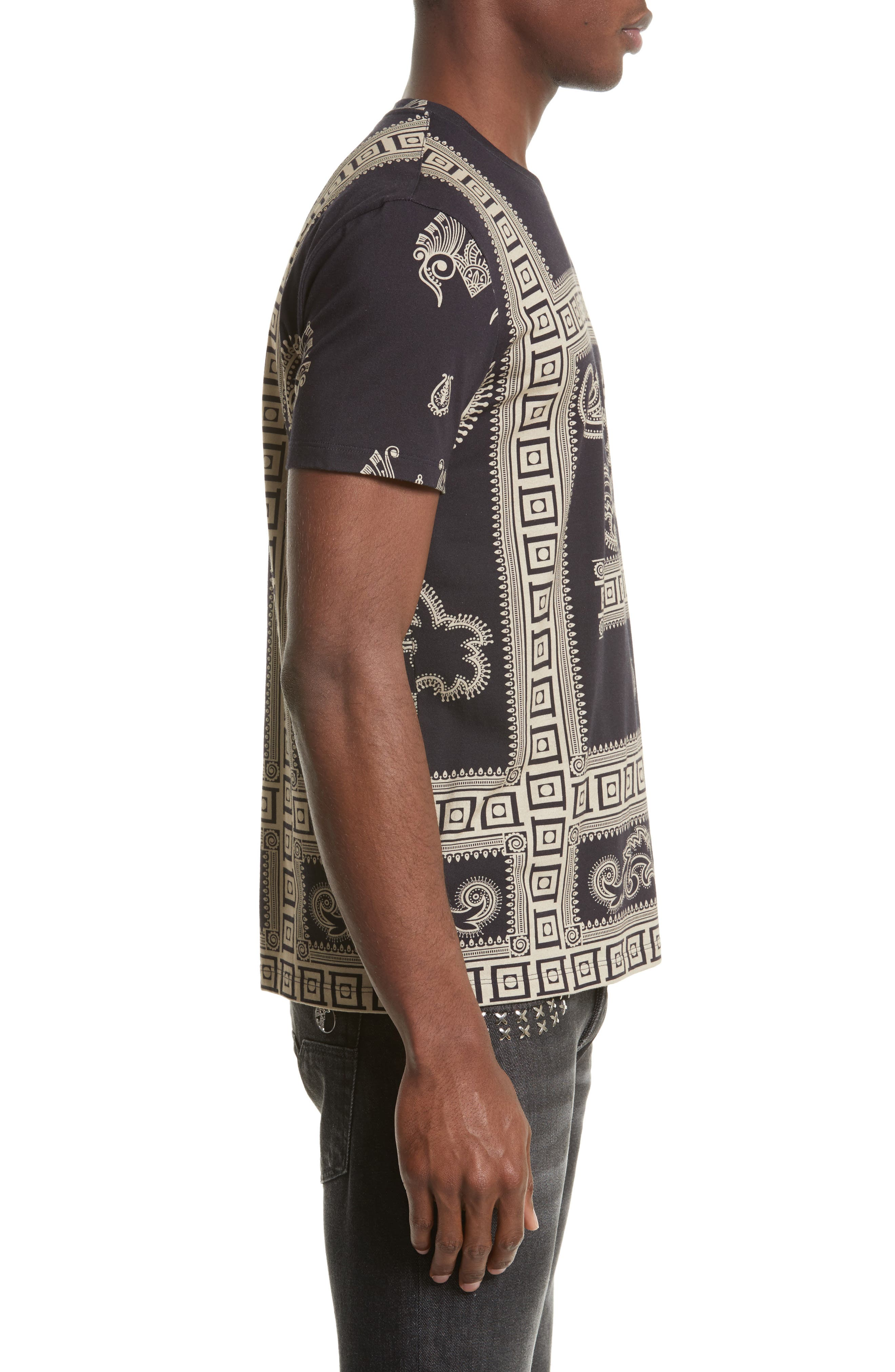 Alternate Image 3  - Versace Collection Paisley Frame Print T-Shirt