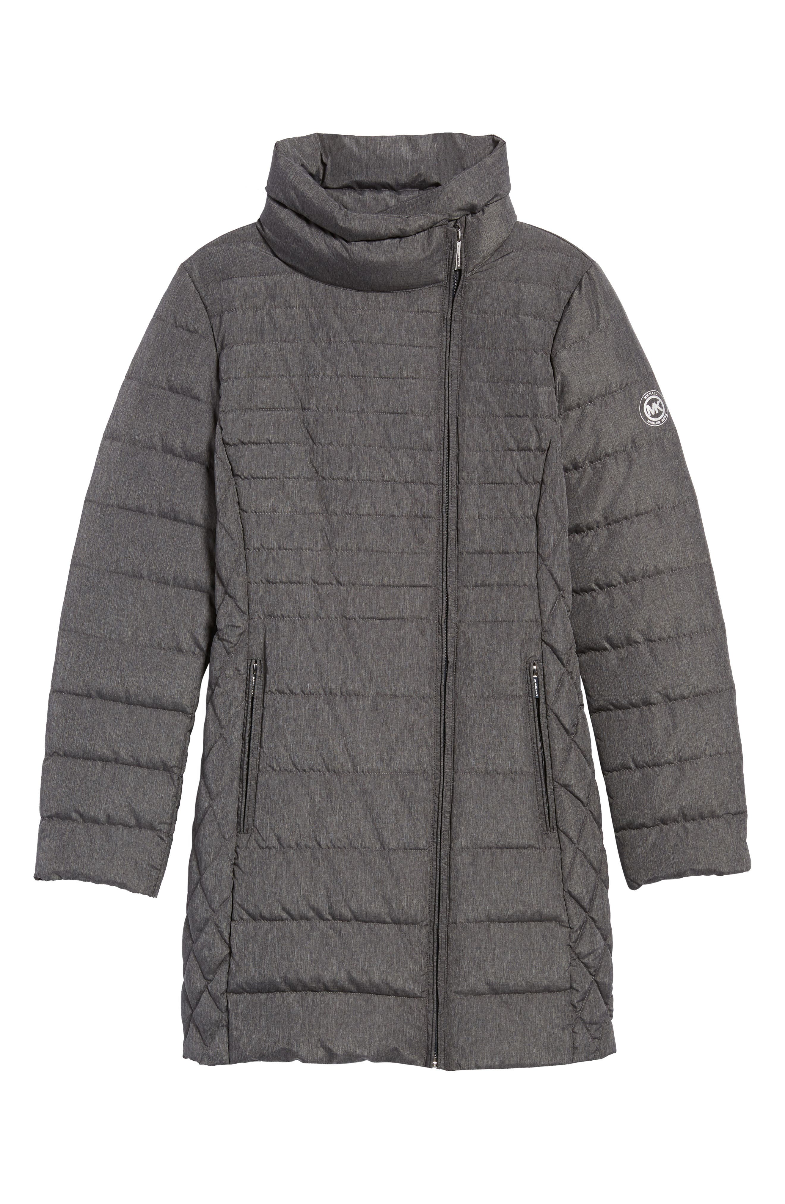 Water Repellent Packable Puffer Coat,                             Alternate thumbnail 5, color,                             Charcoal