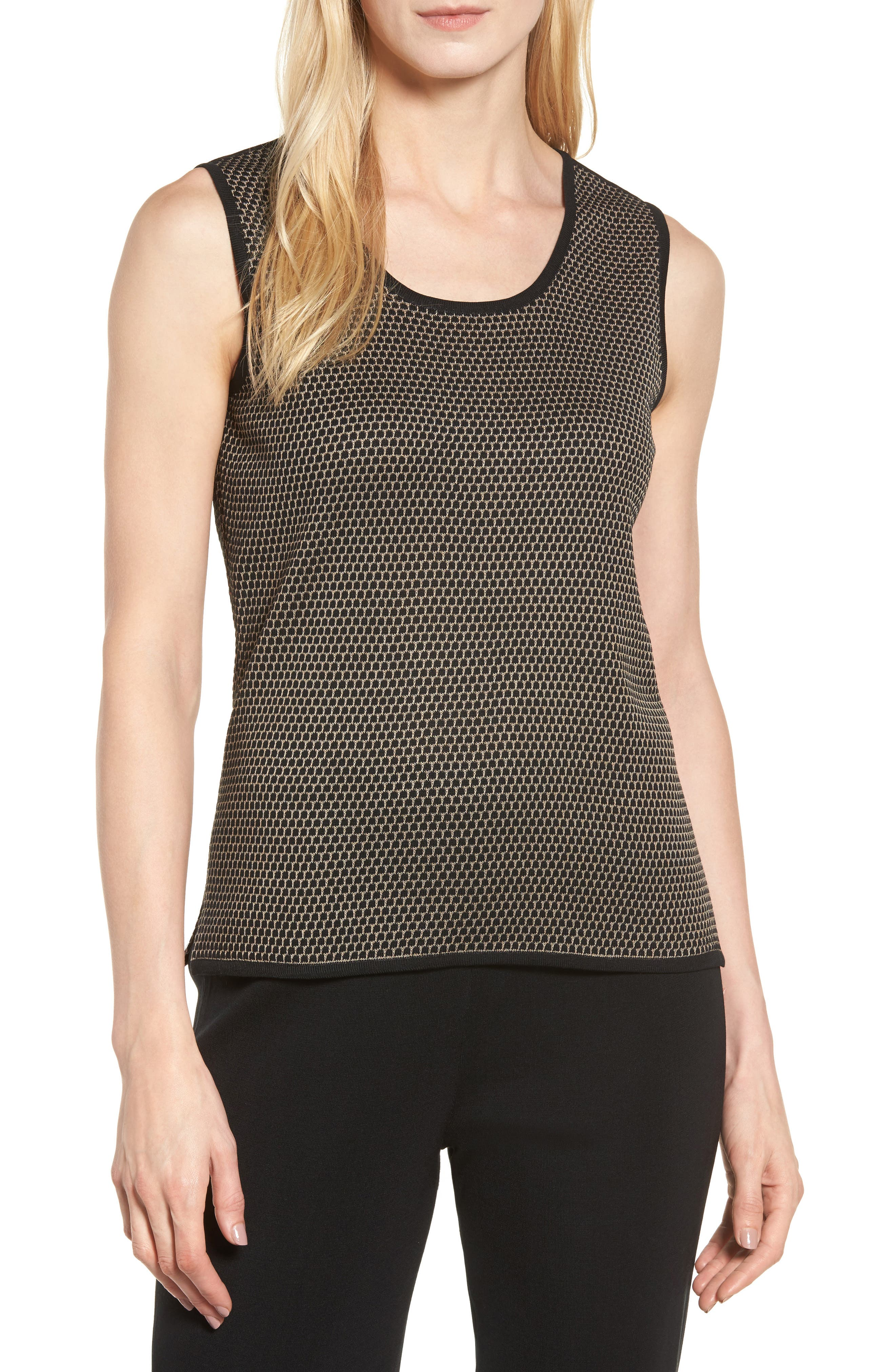 Main Image - Ming Wang Geometric Knit Tank