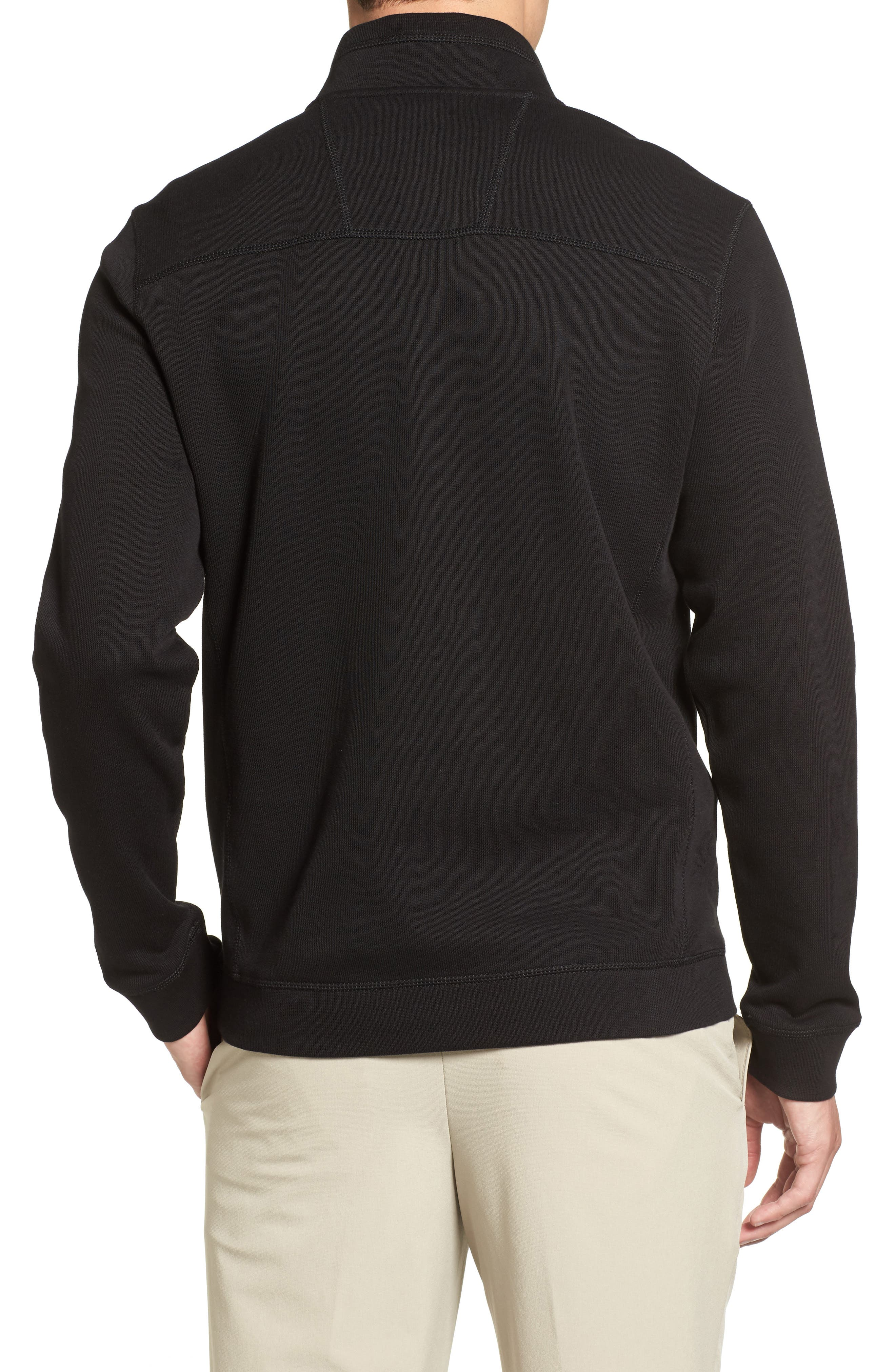 Bayview Quarter Zip Pullover,                             Alternate thumbnail 2, color,                             Black