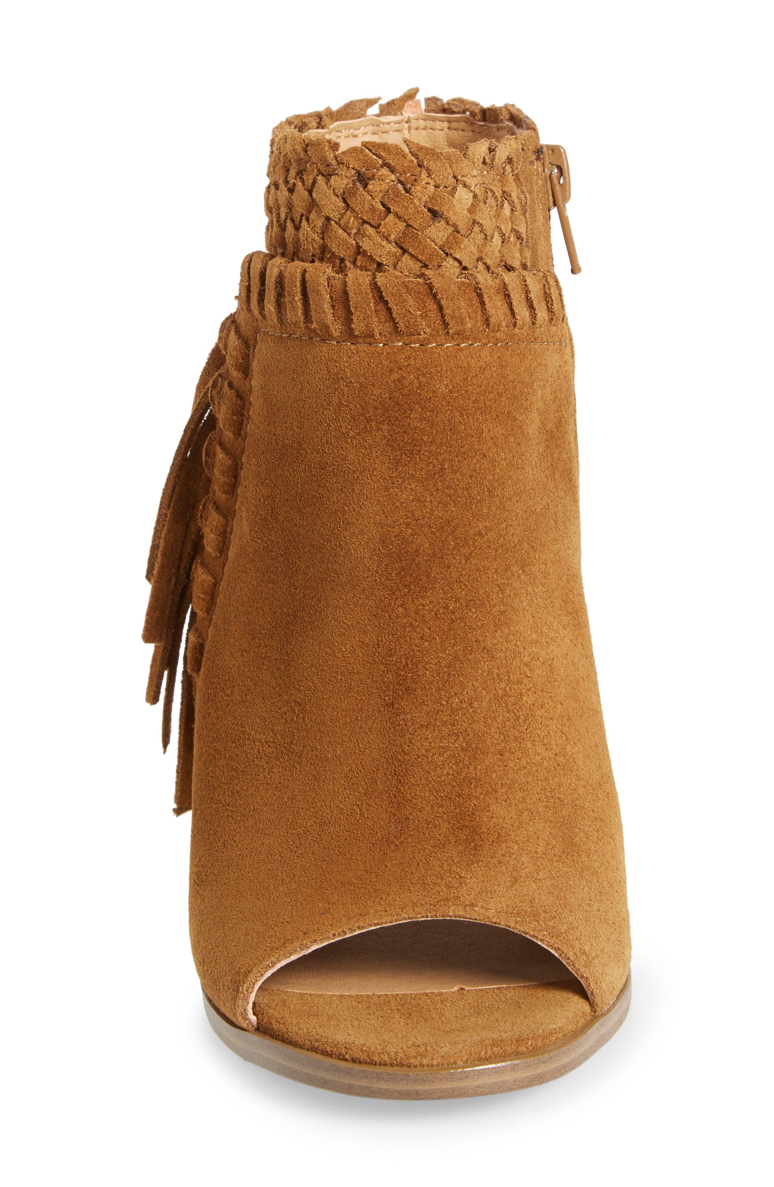 Alternate Image 4  - Lucky Brand Ointlee Fringe Bootie Sandal (Women)