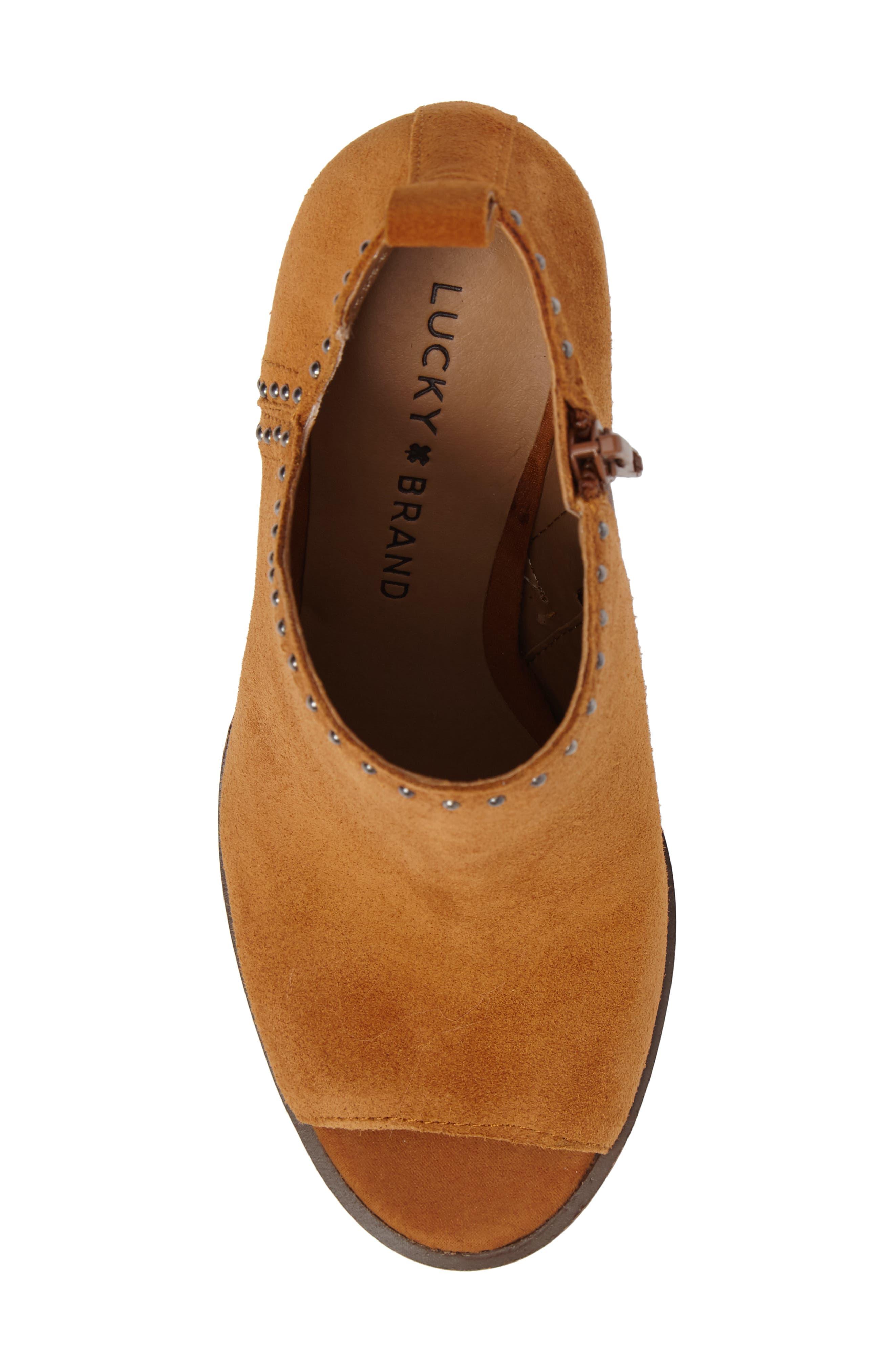 Alternate Image 5  - Lucky Brand Lotisha Studded Open Toe Bootie (Women)