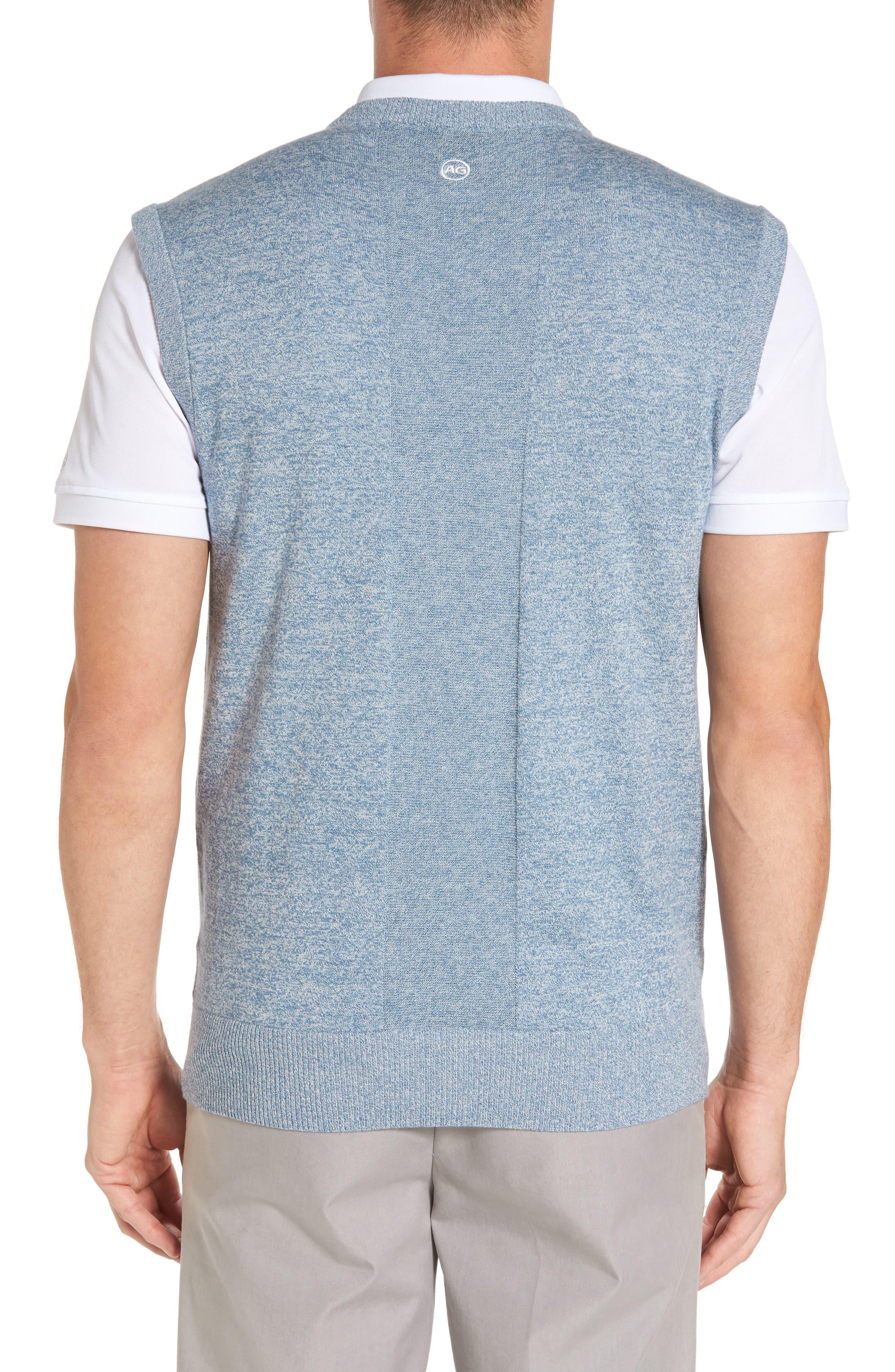 Valley V-Neck Sweater Vest,                             Alternate thumbnail 2, color,                             Blue Print/ White Melange