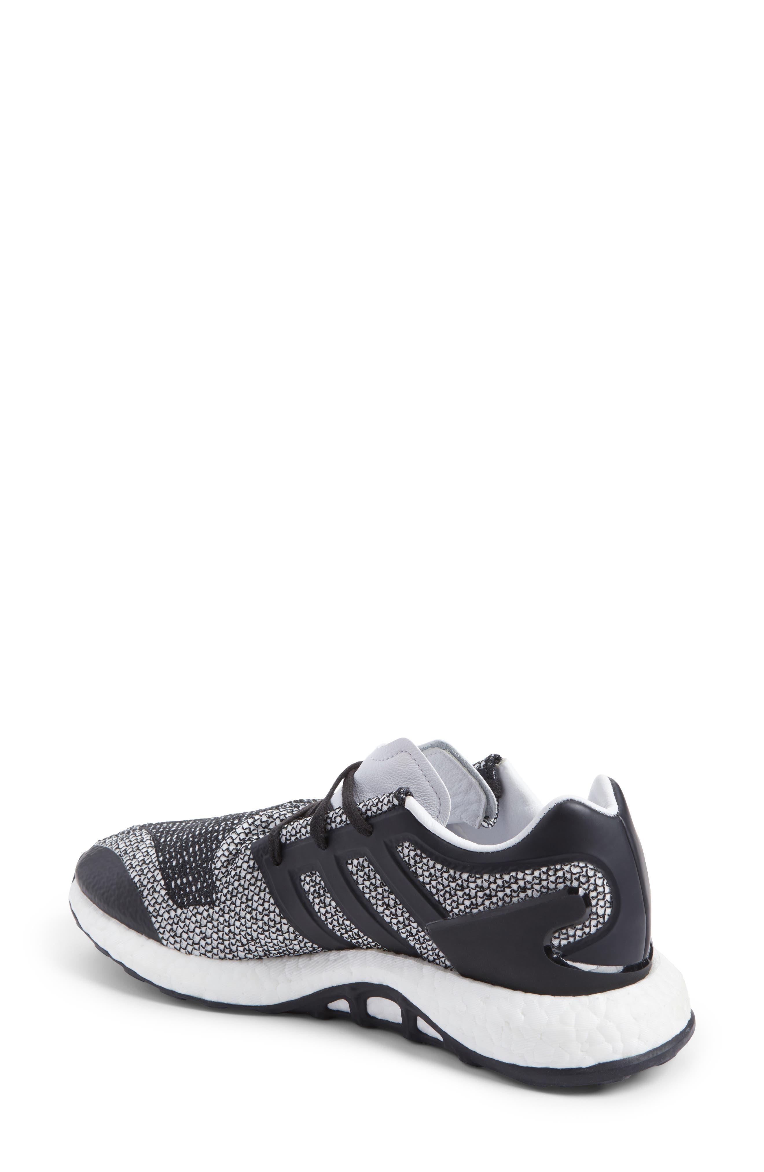 PureBoost Sneaker,                             Alternate thumbnail 2, color,                             White/ Core Black