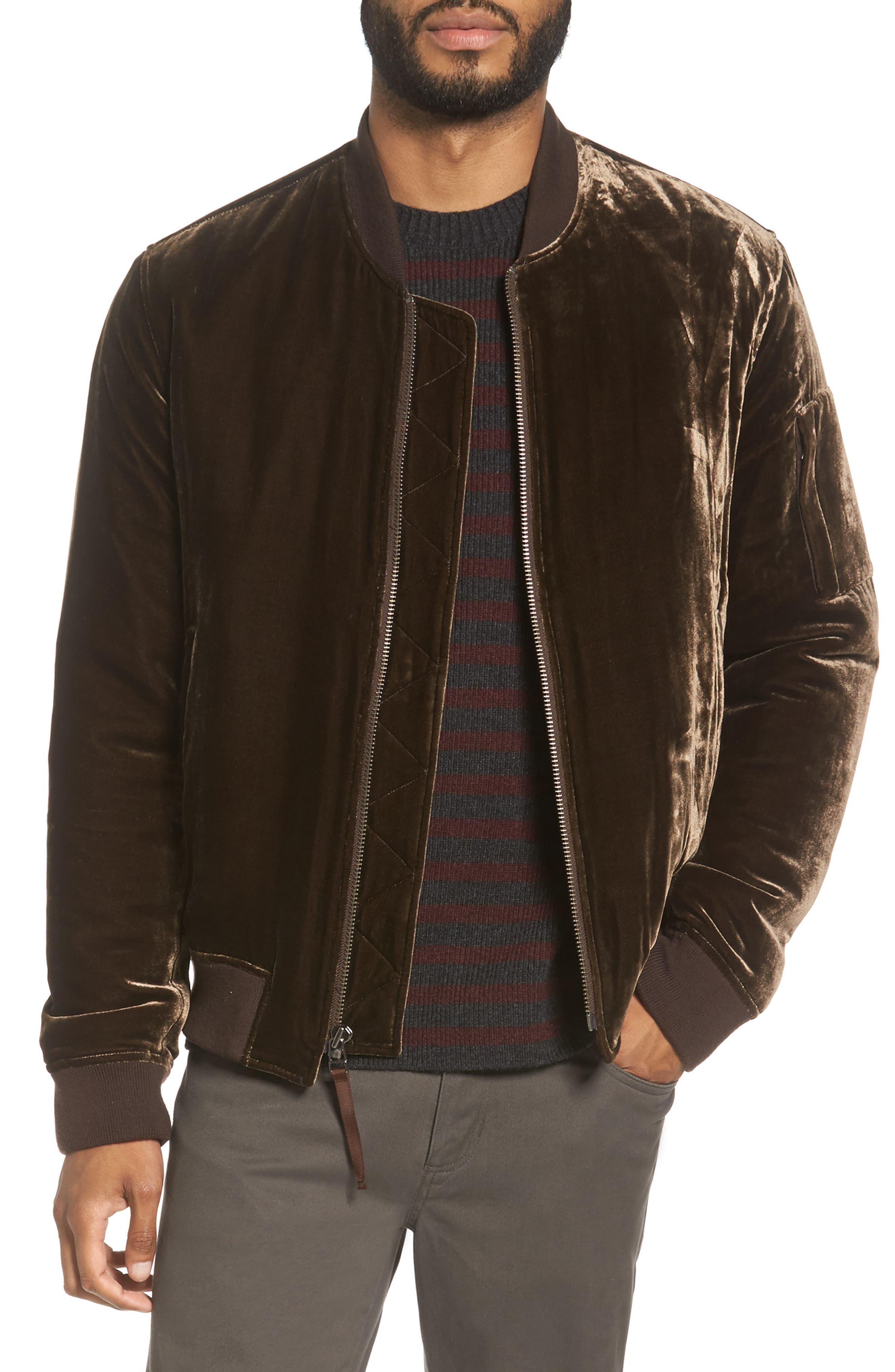 Main Image - Vince Velvet Bomber Jacket
