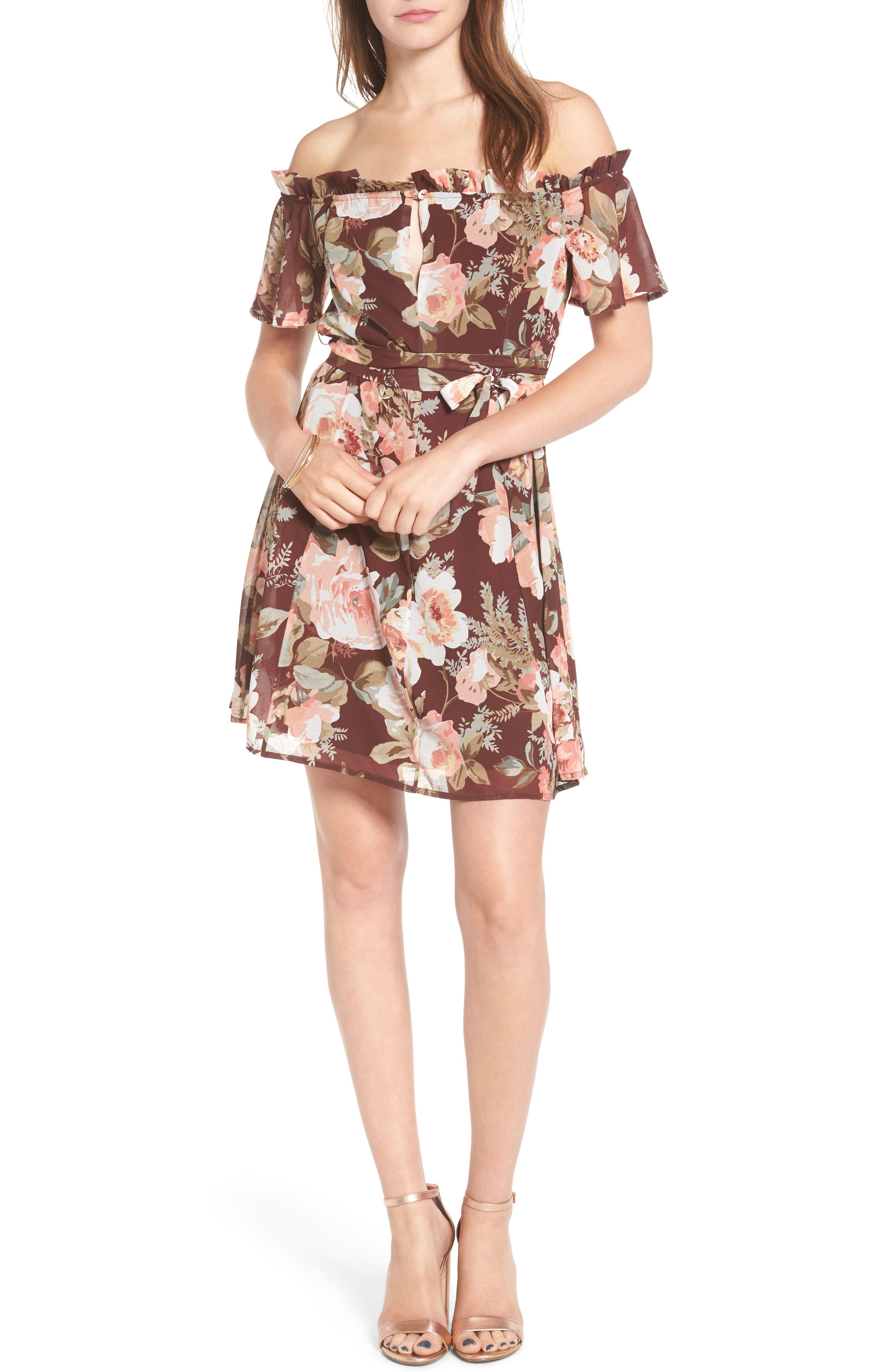 Main Image - Privacy Please Deluth Off the Shoulder Dress