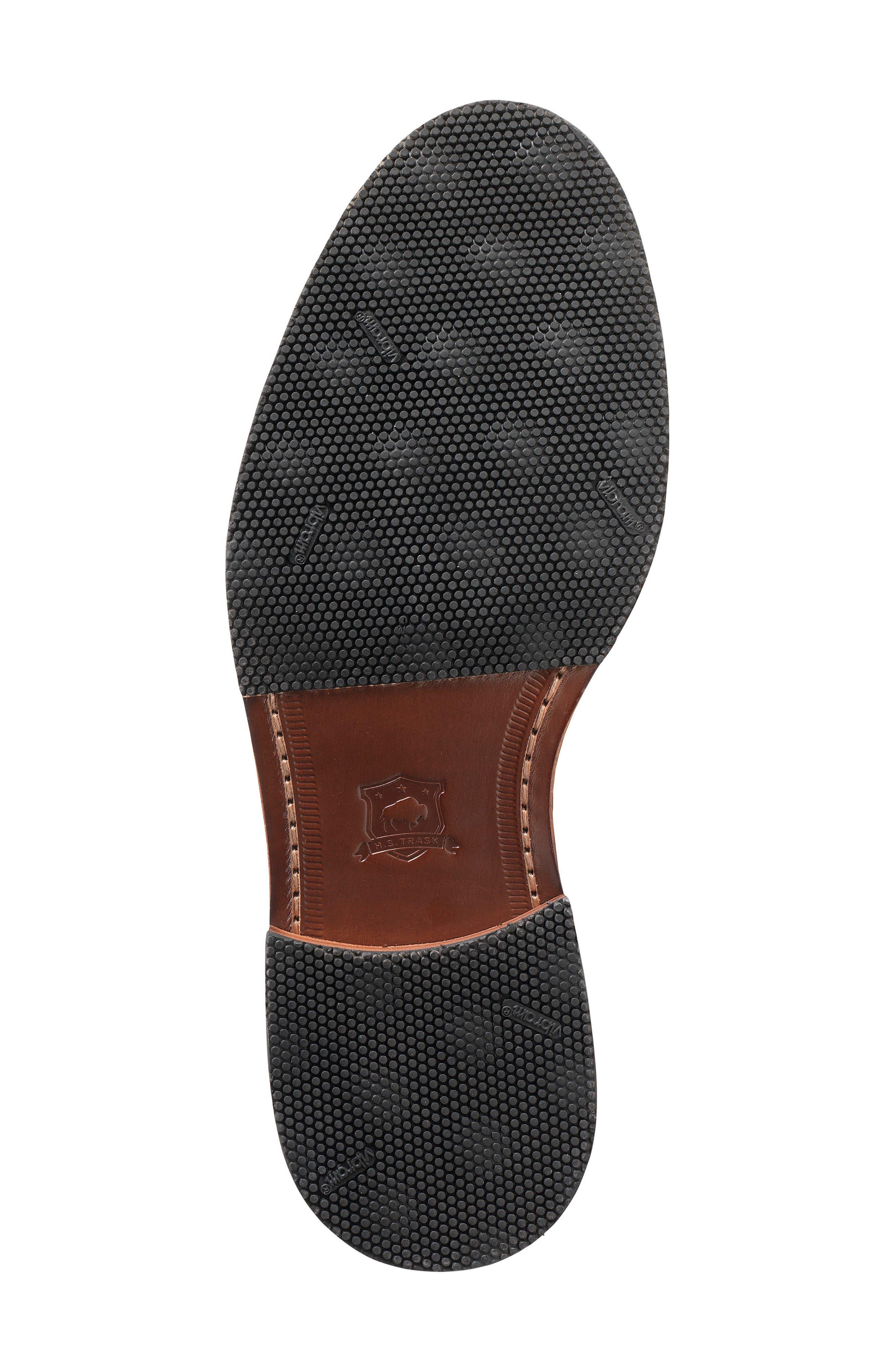 Leland Double Monk Strap Shoe,                             Alternate thumbnail 4, color,                             Navy Waxed Suede