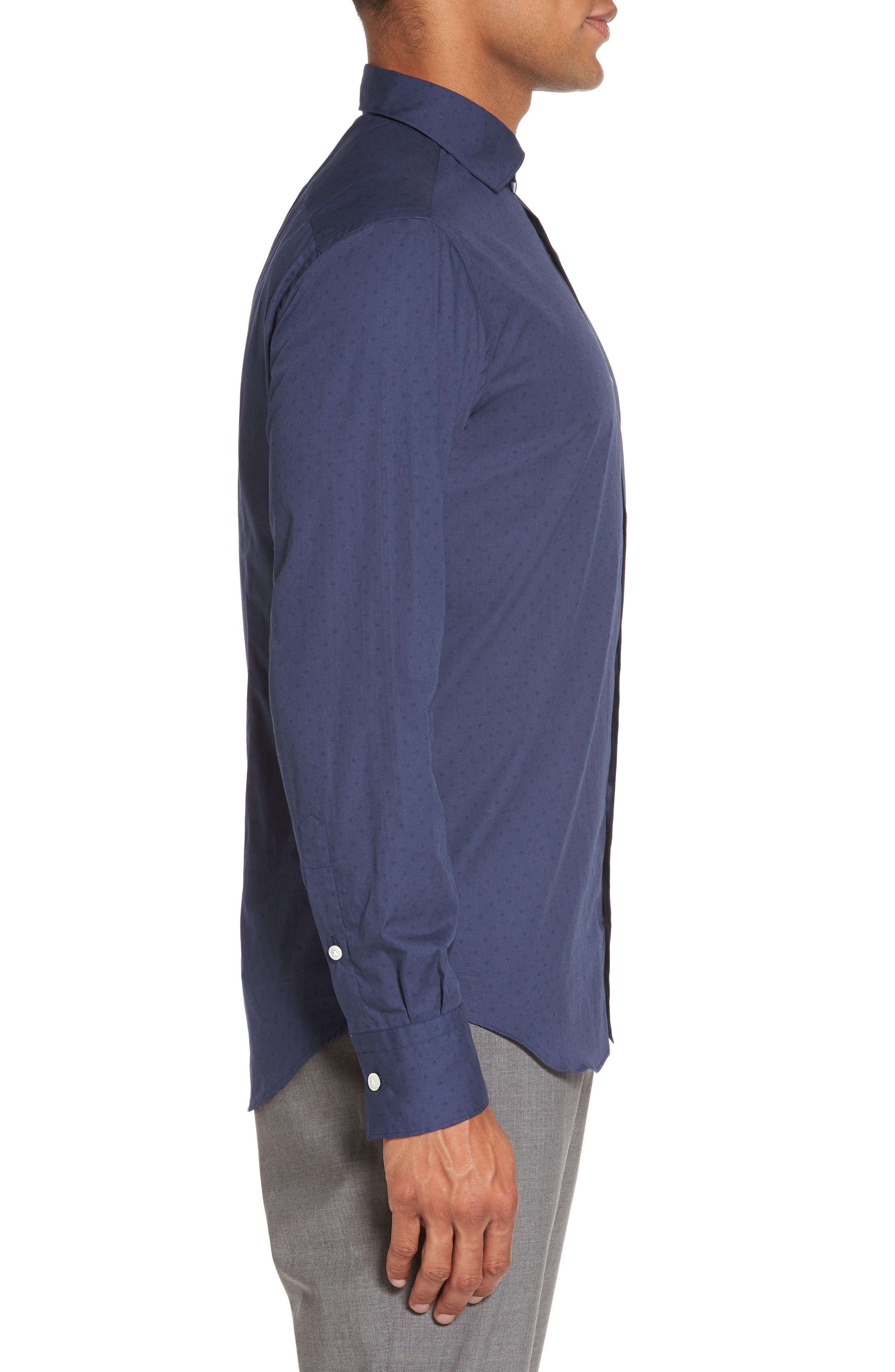 Alternate Image 3  - Eleventy Dot Print Sport Shirt