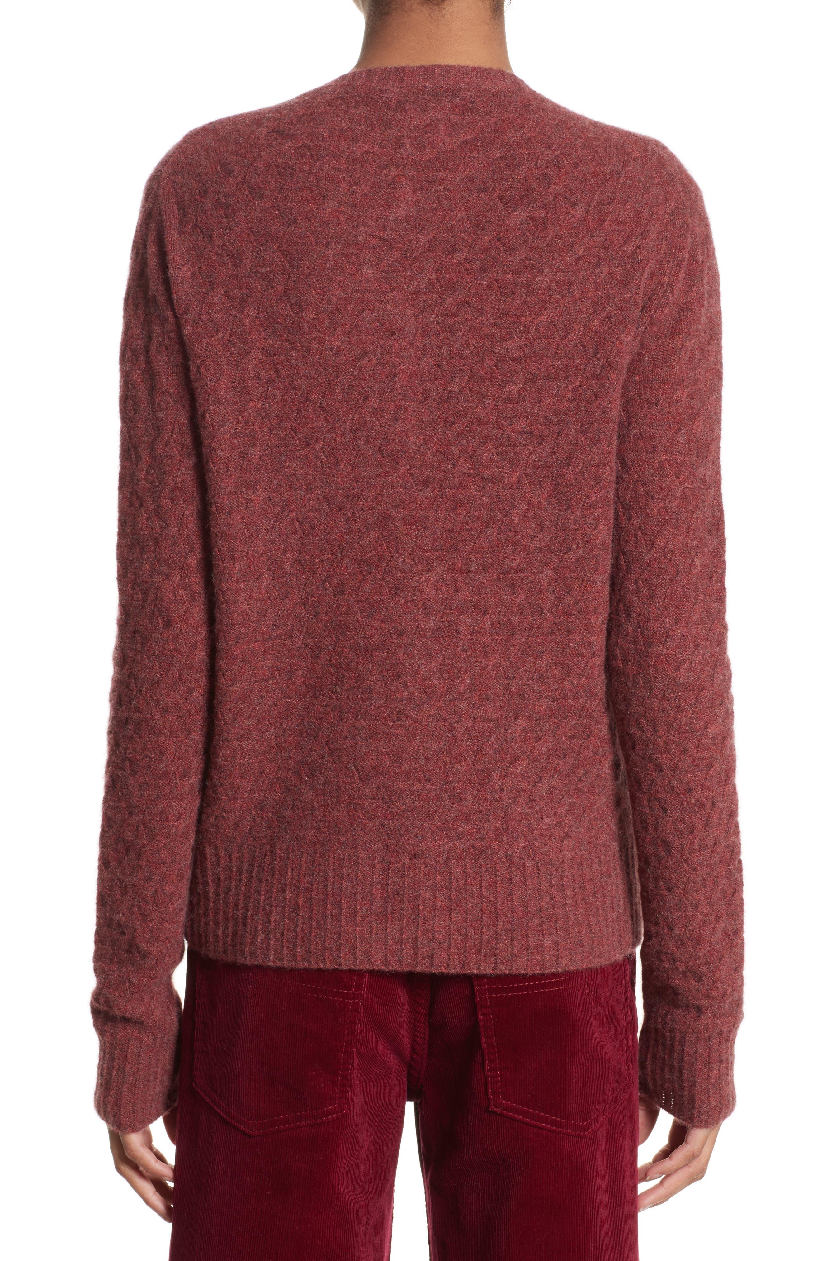 Heart Button Cashmere Cardigan,                             Alternate thumbnail 2, color,                             Pink