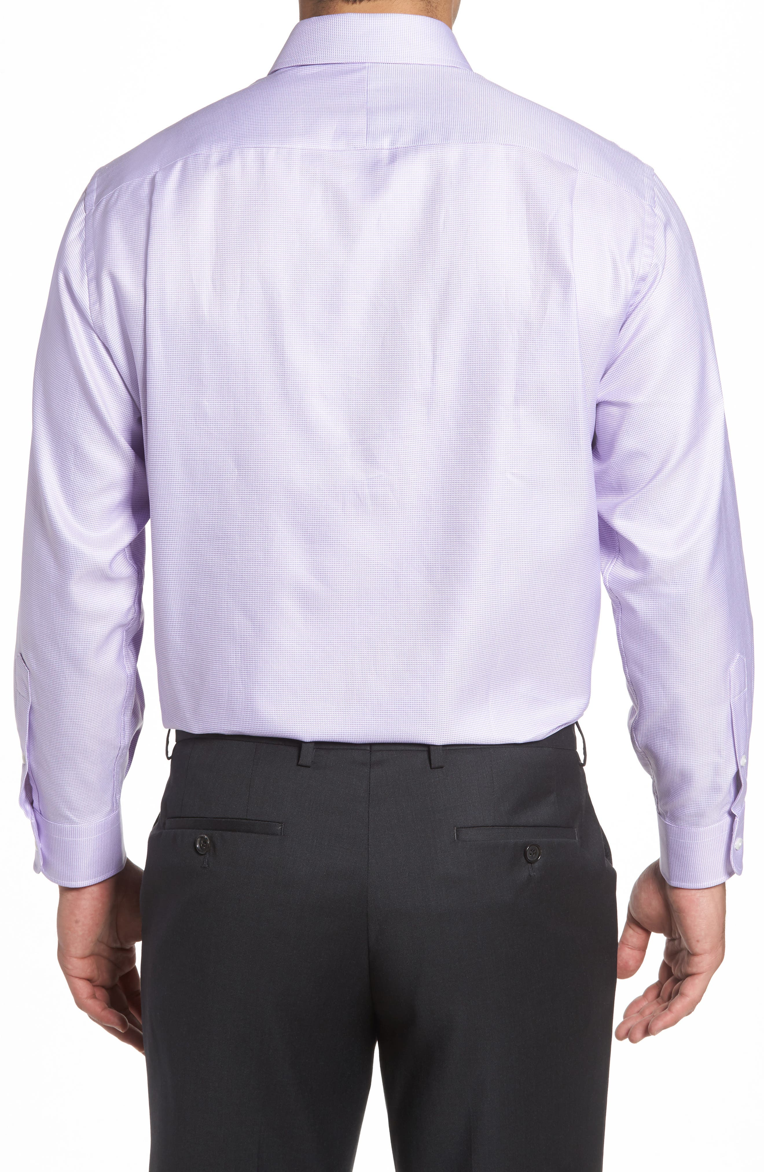 Alternate Image 2  - Nordstrom Men's Shop Classic Fit Microgrid Dress Shirt