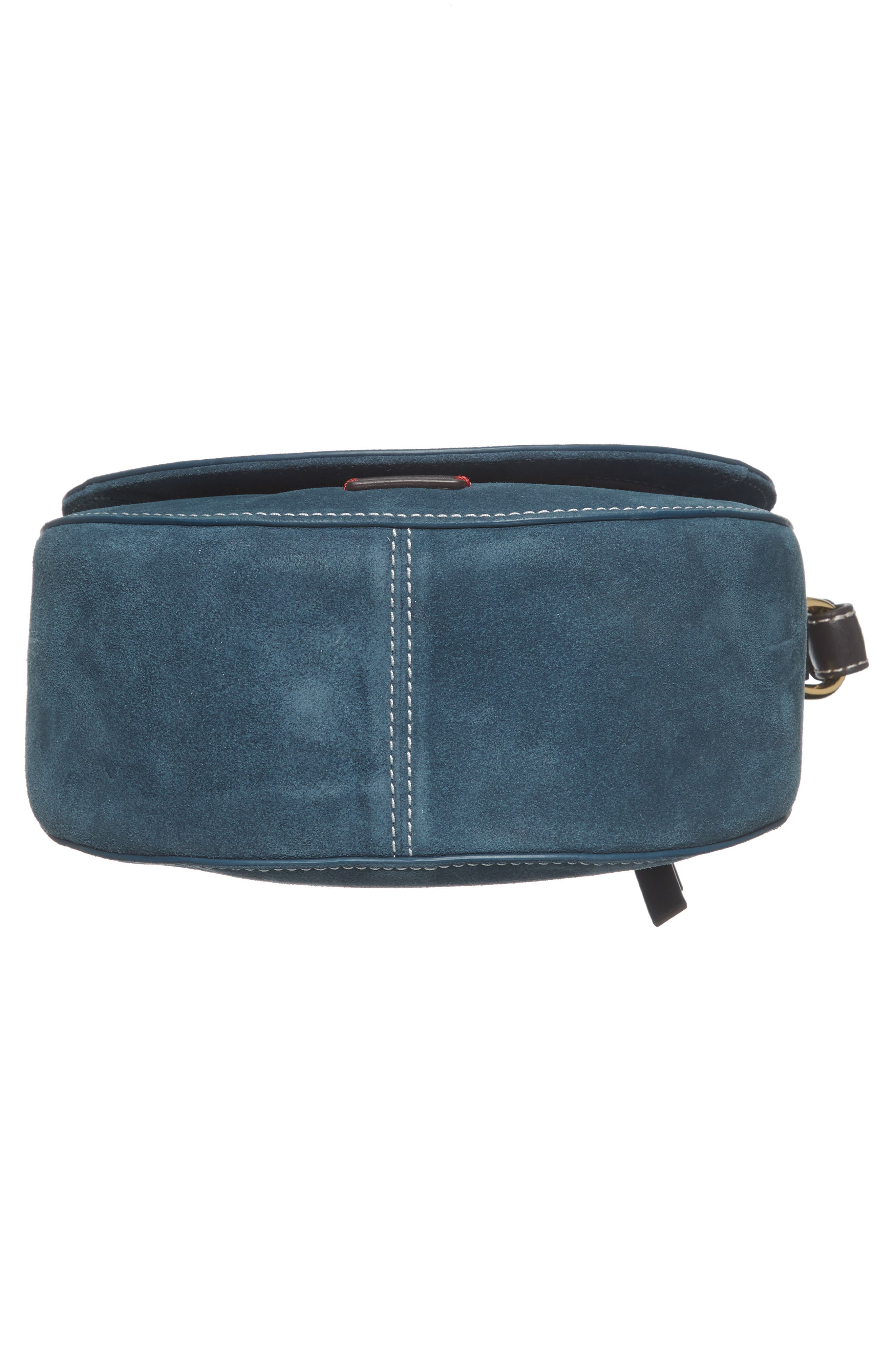 Mini Ellen Suede Crossbody Bag,                             Alternate thumbnail 6, color,                             Dark Teal
