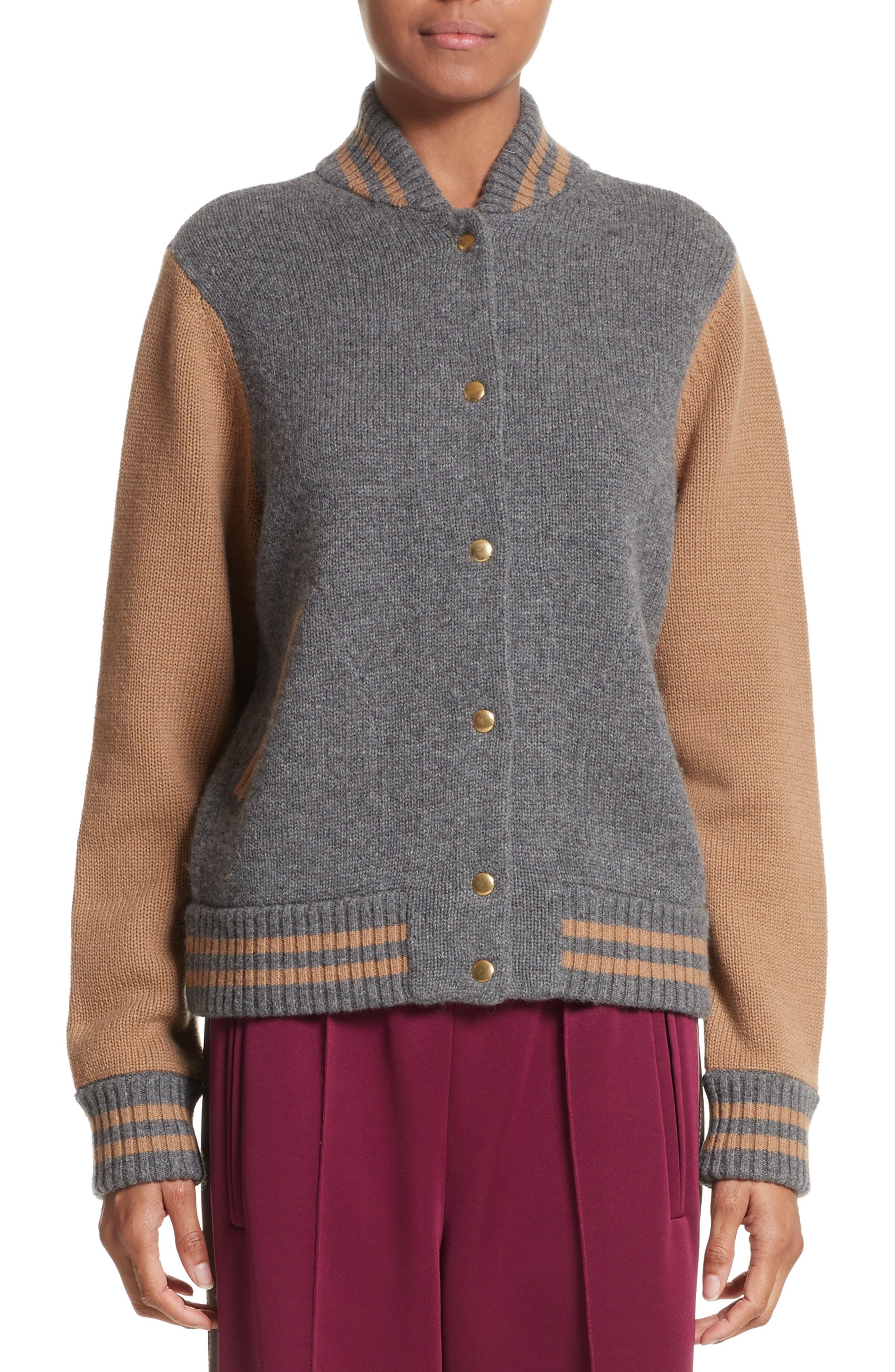 MARC JACOBS Wool & Cashmere Knit Varsity Jacket