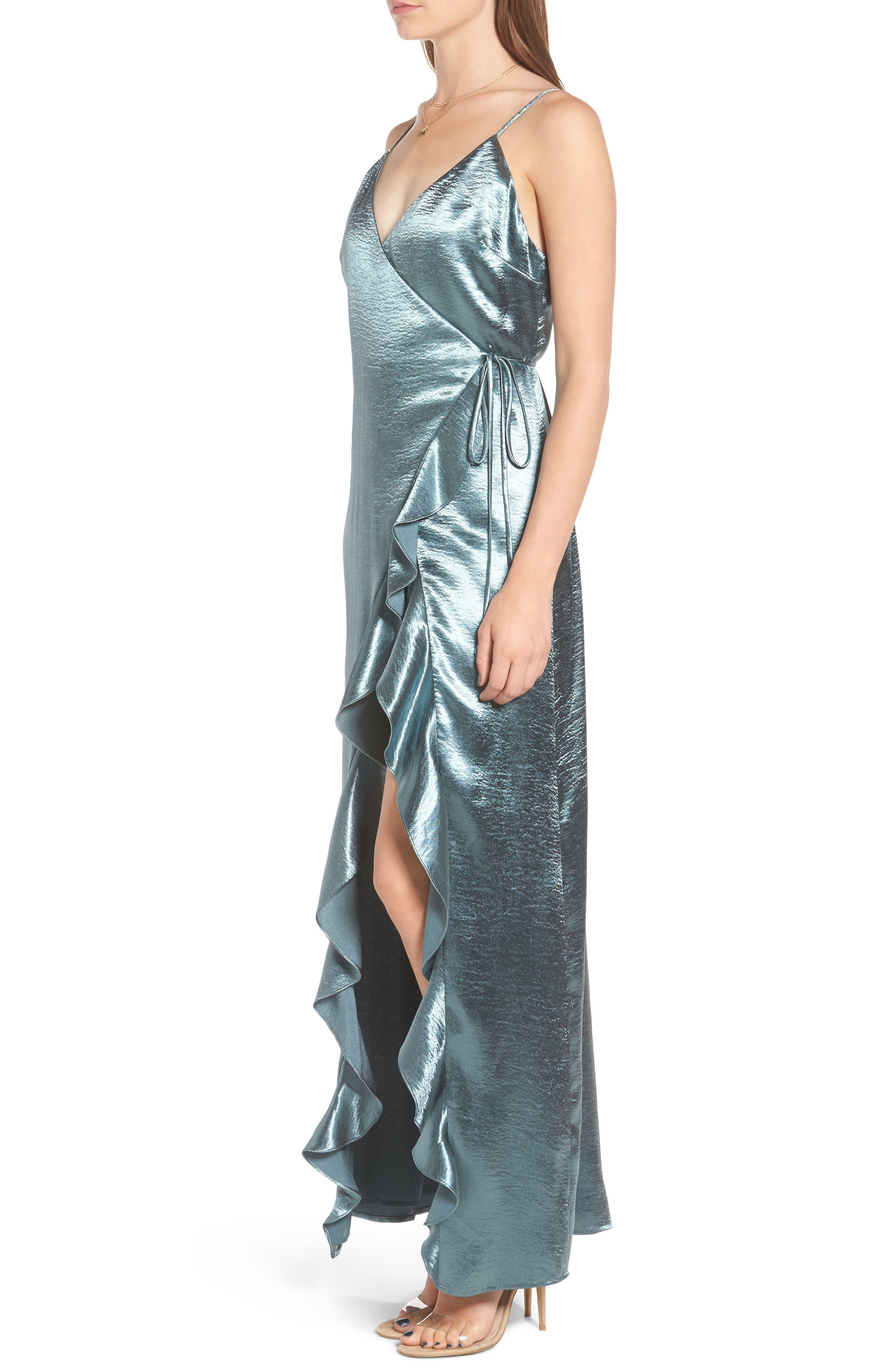 Alternate Image 3  - Privacy Please Pelican Wrap Maxi Dress