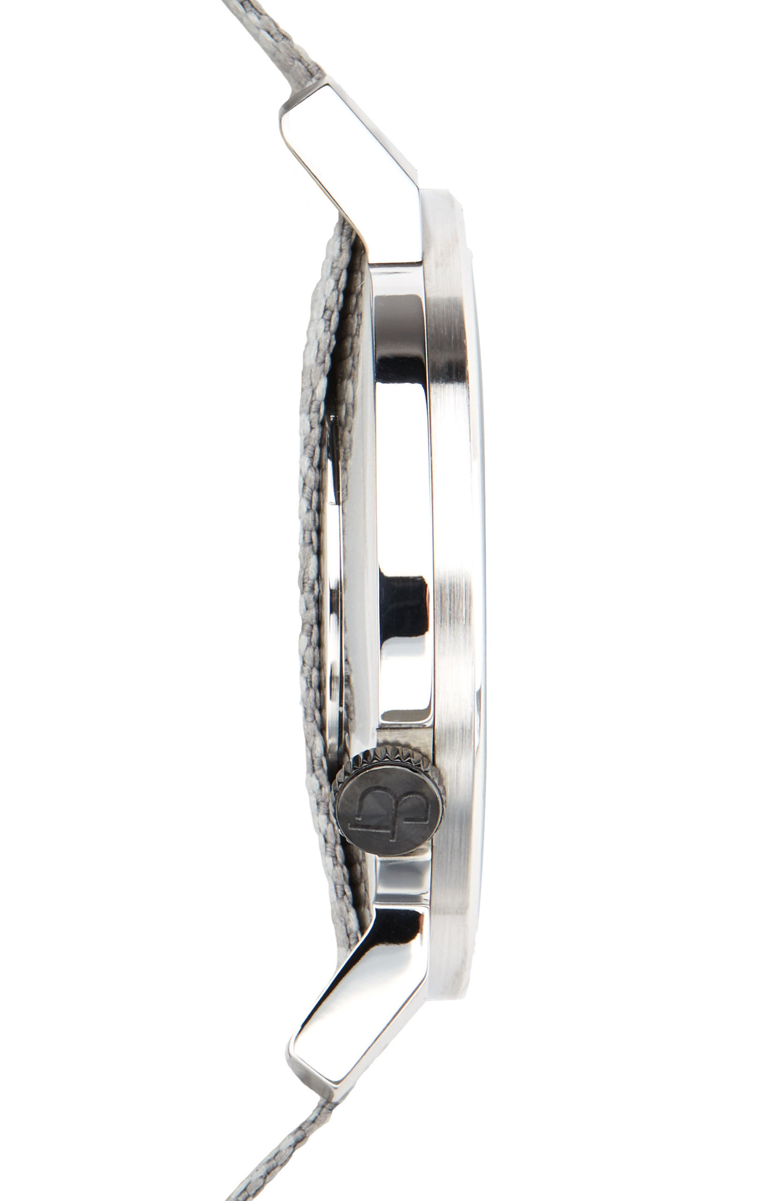 Davis Slim Nylon Strap Watch, 40mm,                             Alternate thumbnail 3, color,                             Grey/ Grey
