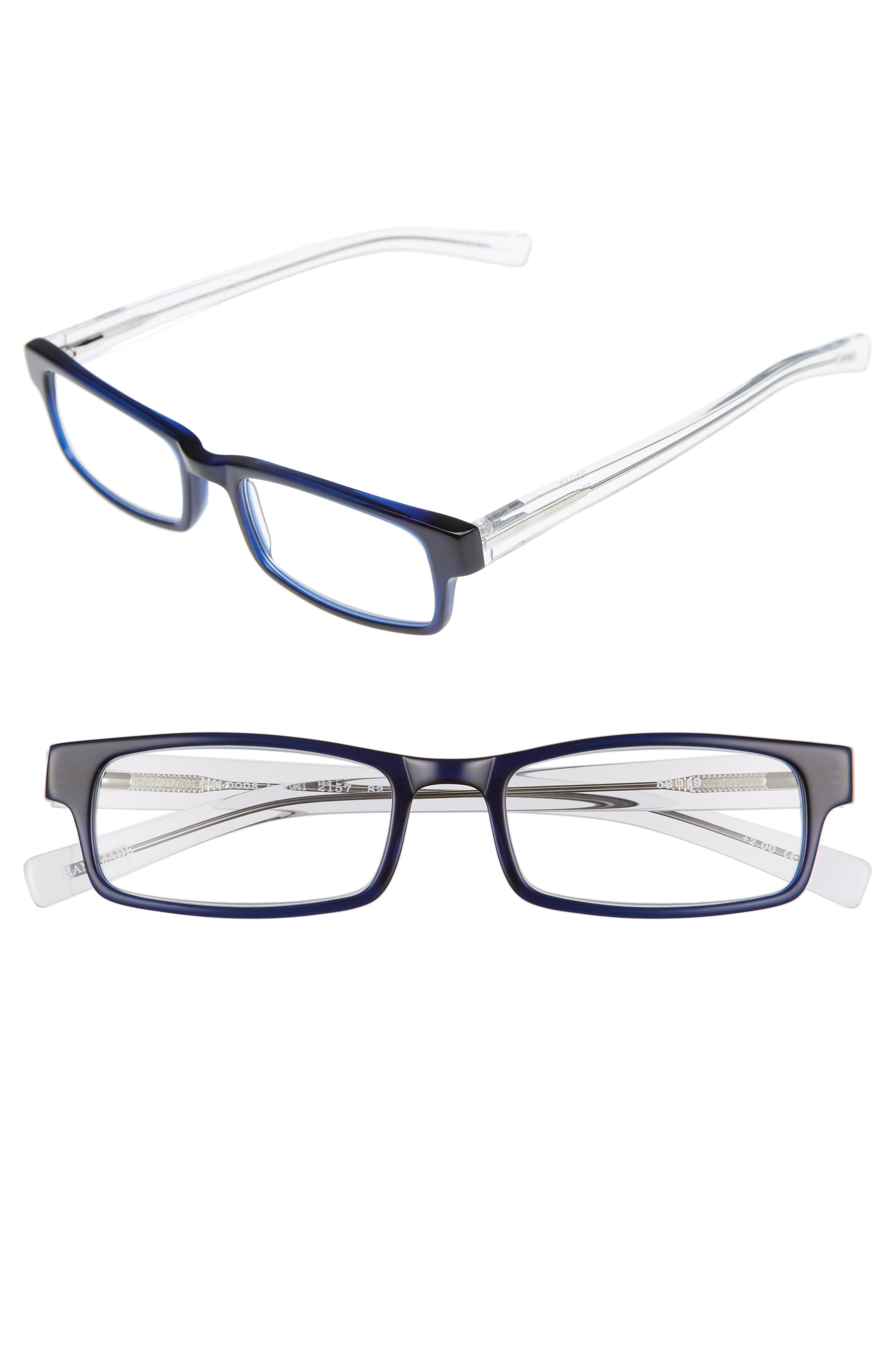 I Ball 52mm Reading Glasses,                             Main thumbnail 1, color,                             Navy With Clear