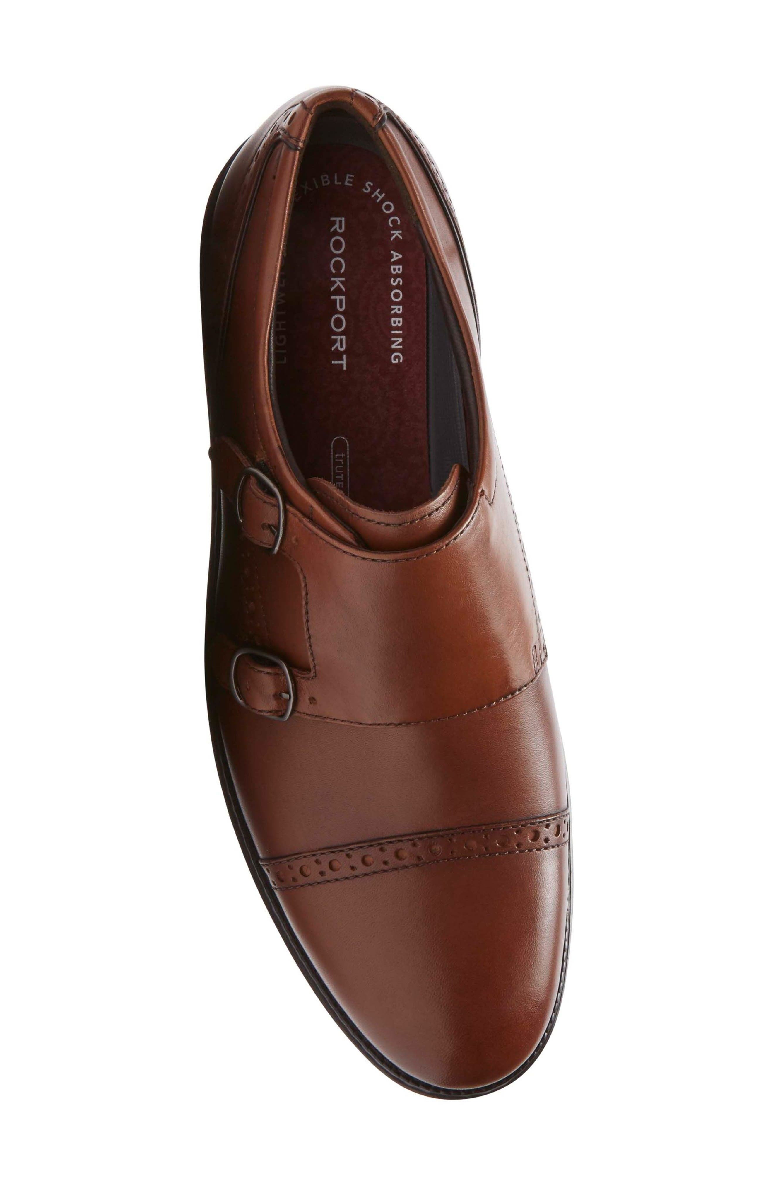 Madson Double Monk Strap Shoe,                             Alternate thumbnail 5, color,                             Tan Leather