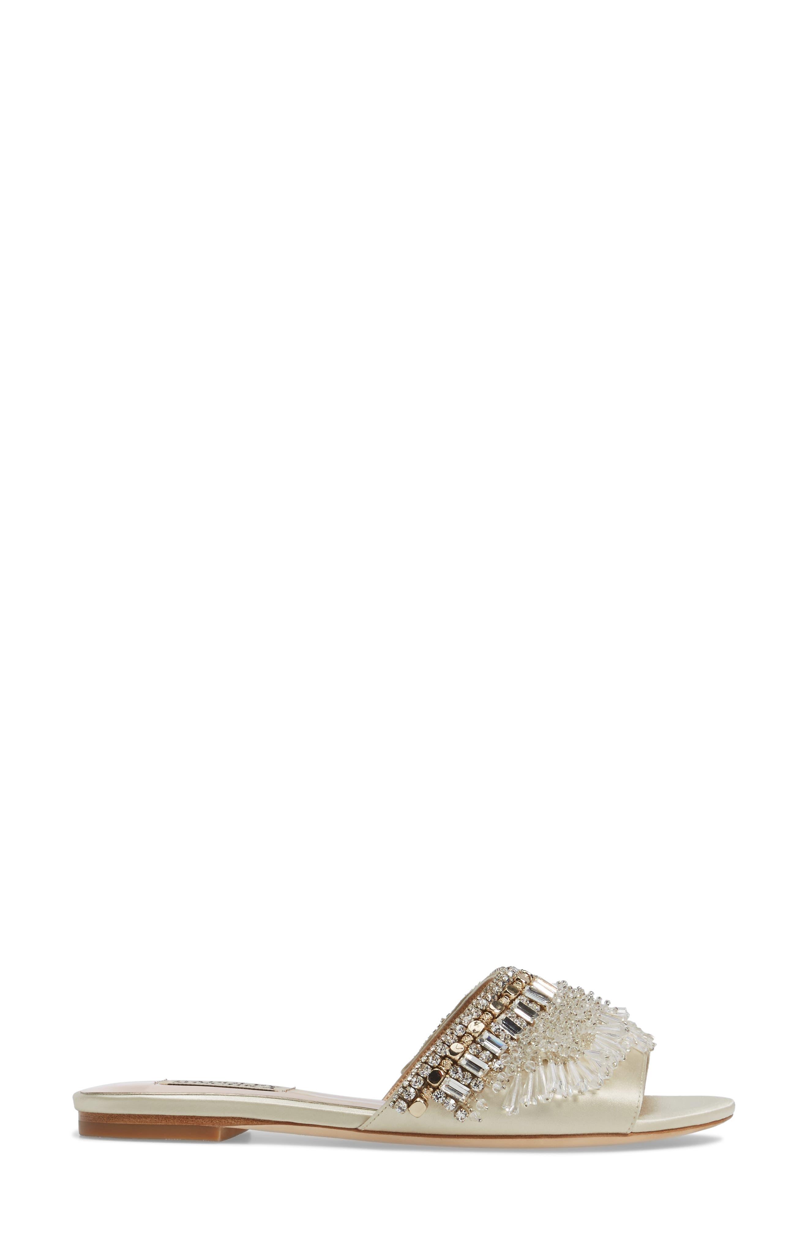 Alternate Image 3  - Badgley Mischka Kassandra Embellished Slide Sandal (Women)
