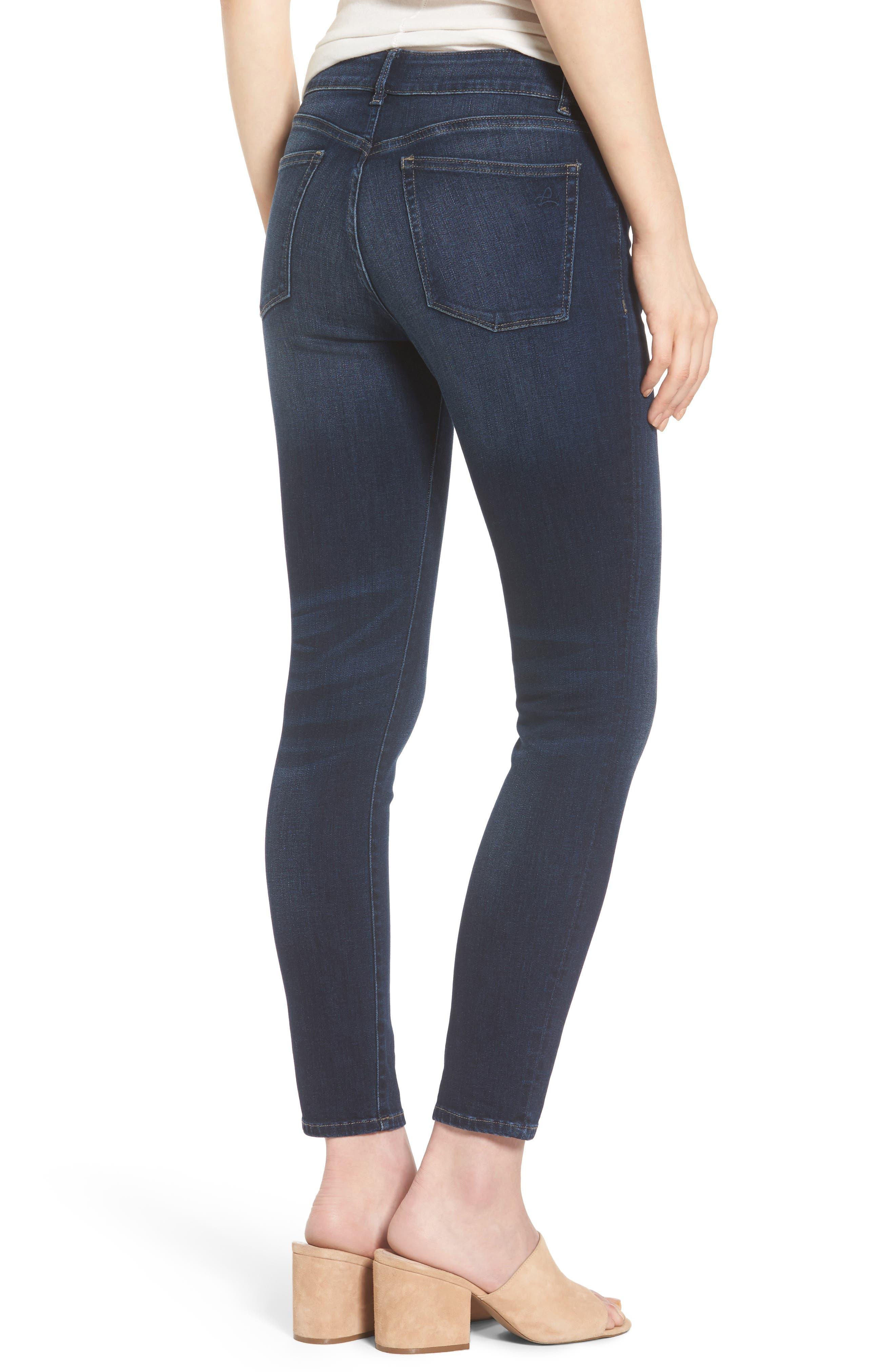 Margaux Instasculpt Ankle Skinny Jeans,                             Alternate thumbnail 2, color,                             Salt Creek