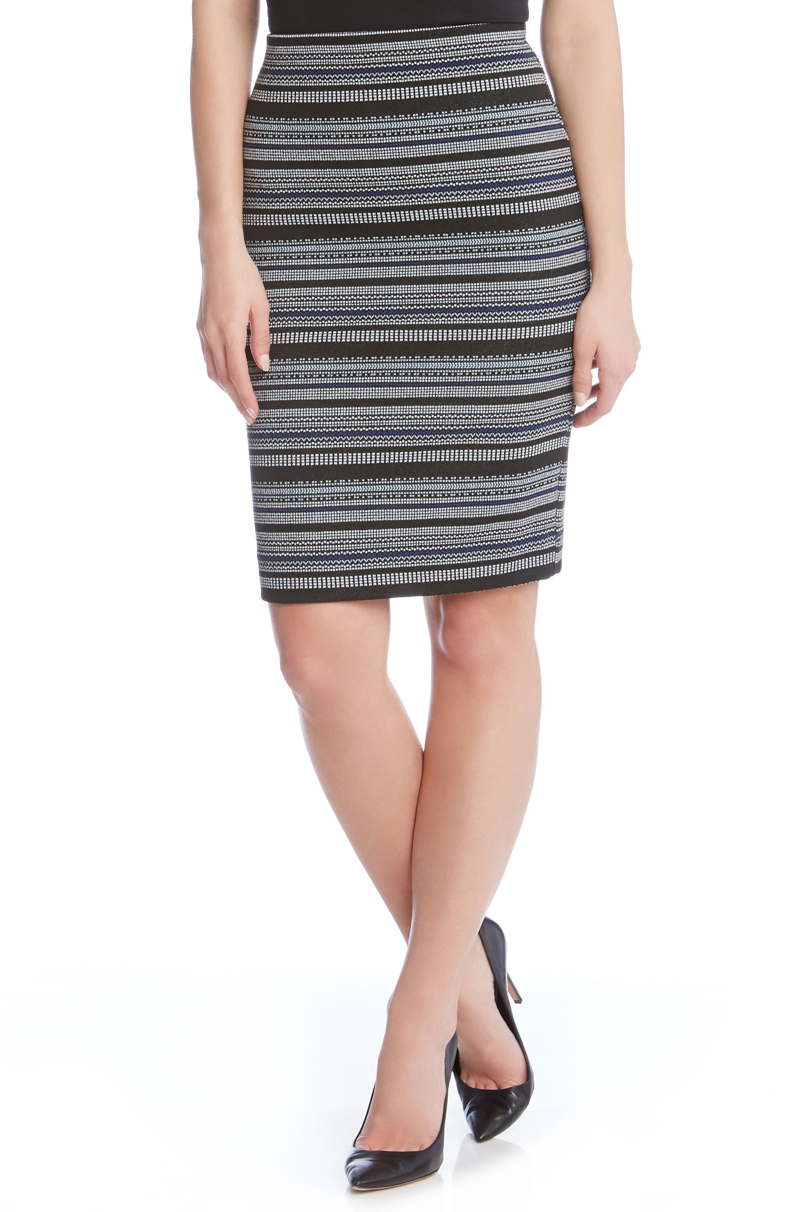 Karen Kane Jacquard Pencil Skirt
